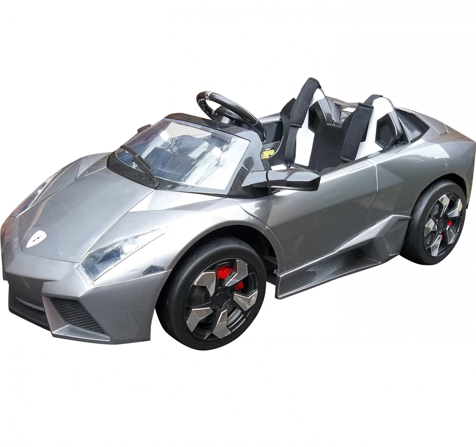 rebo lamborghini style 12v kids electric car with remote control grey
