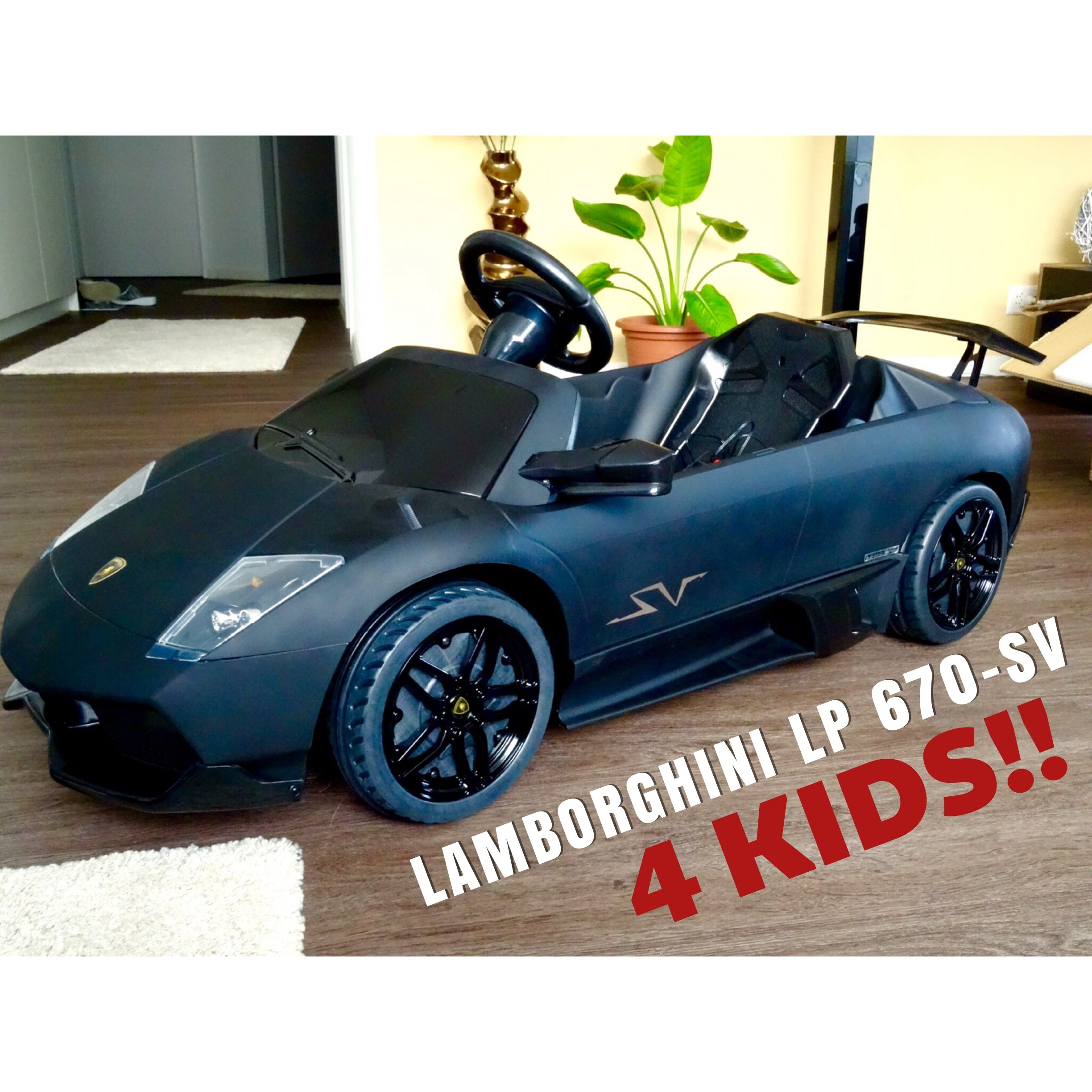 lamborghini murcielago lp 670 sv 12v electric car for kids part 1 youtube