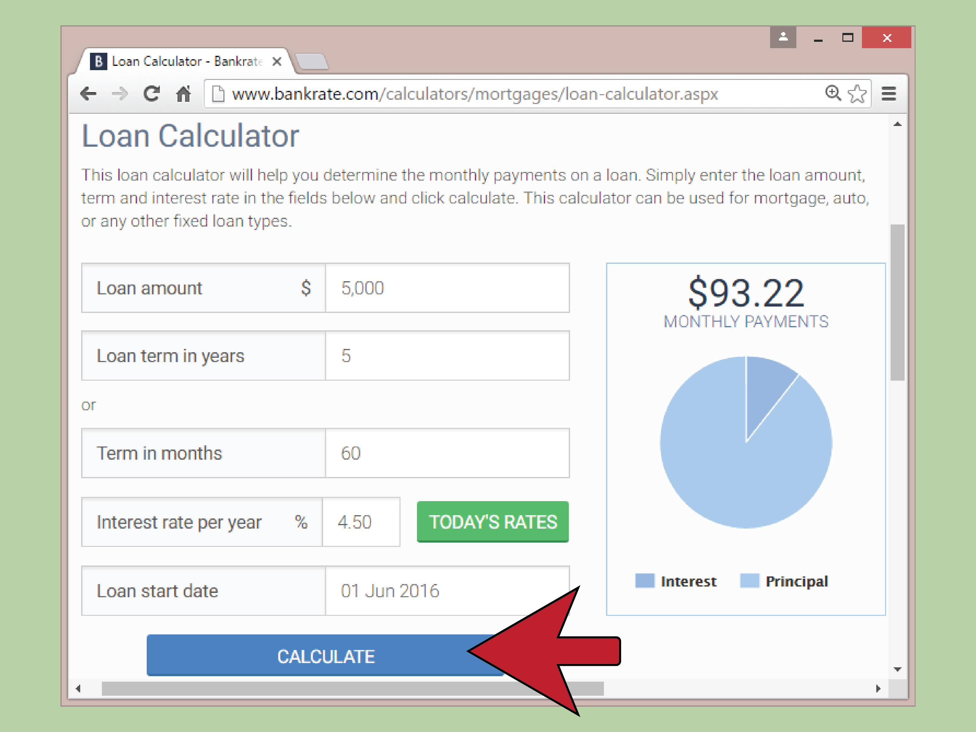 calculate auto loan payments step 17