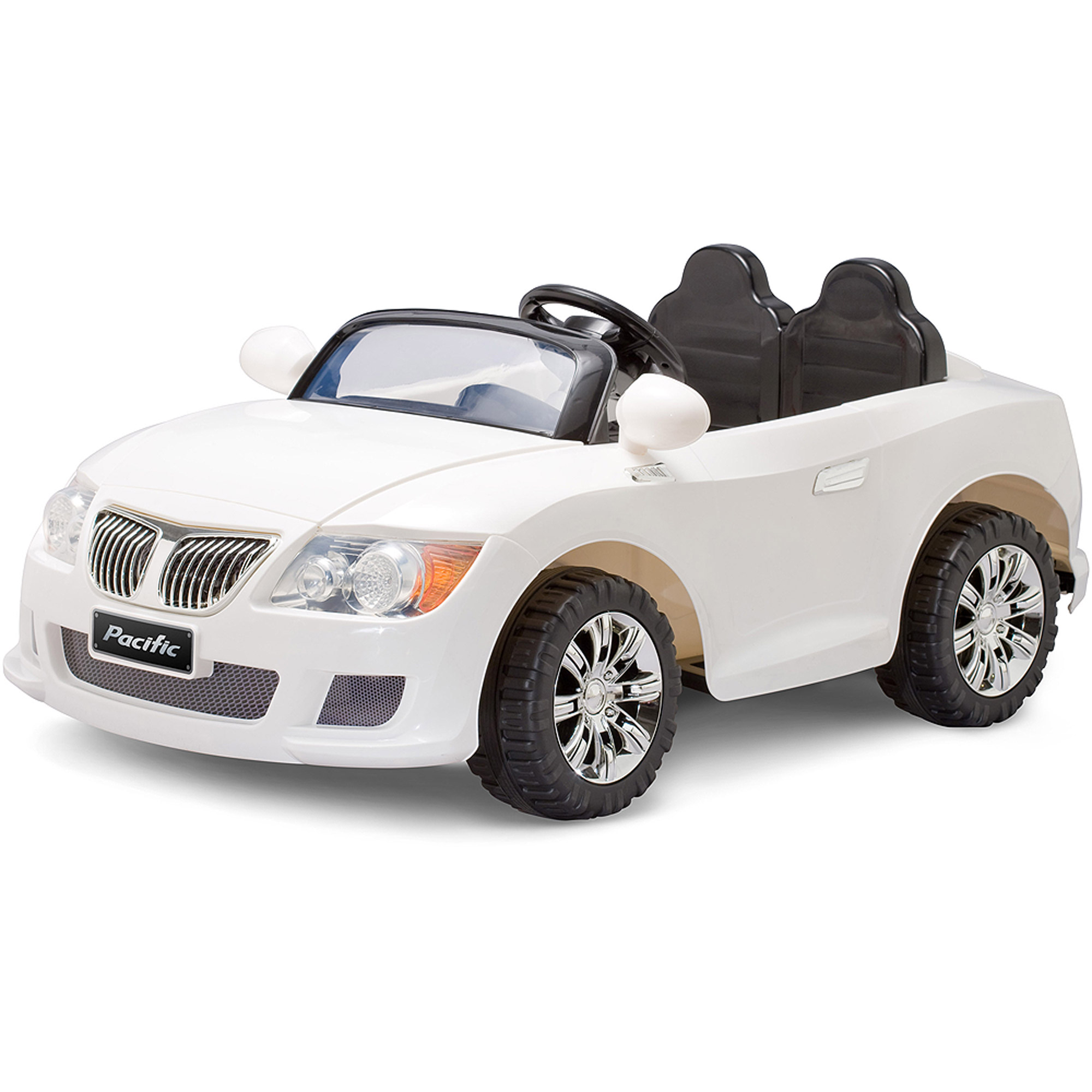 pacific cycle convertible sports car 12v battery powered white walmart