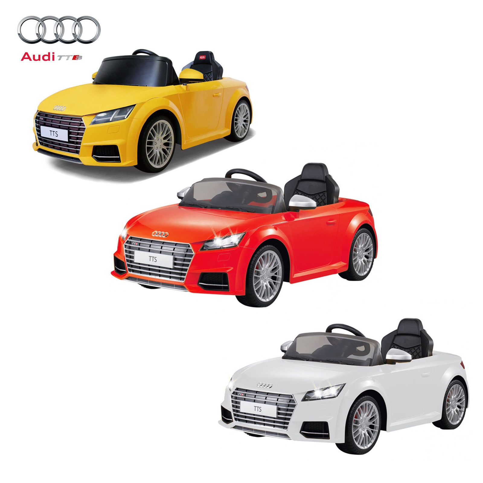 battery operated car audi tts roadster zp8006 red yellow white