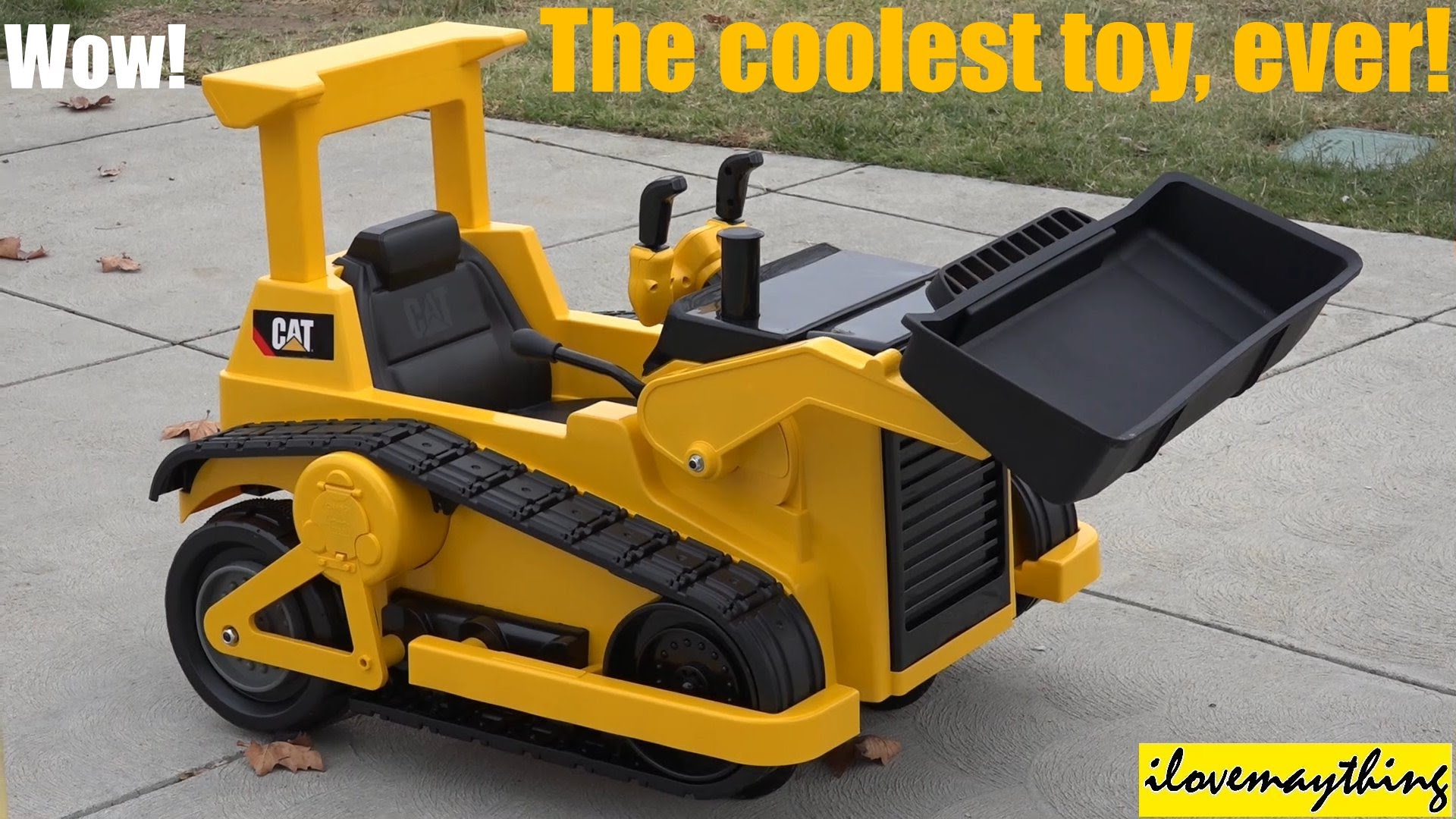 the coolest toy truck ever battery operated caterpillar bulldozer ride on youtube