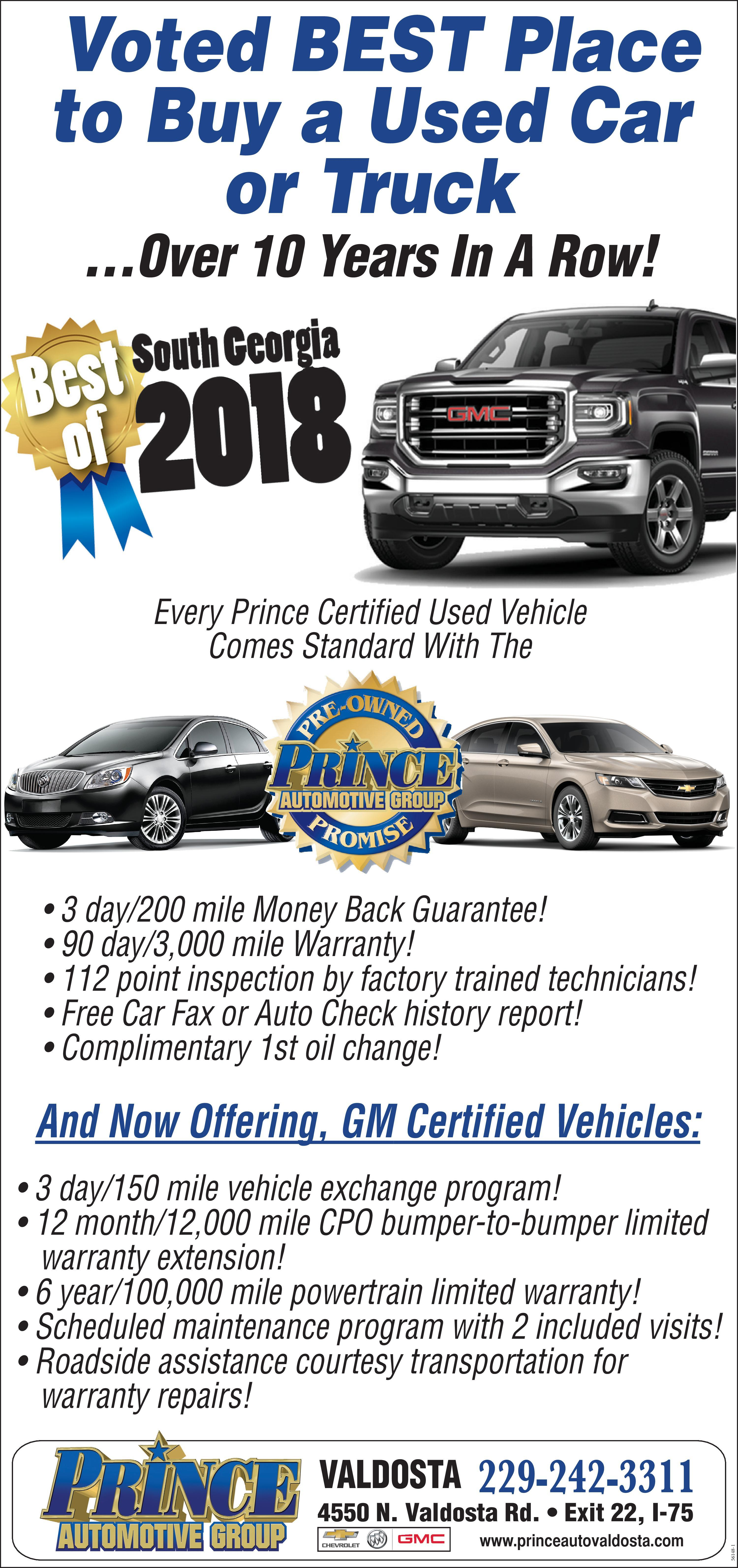 prince automotive group voted best place to a used car