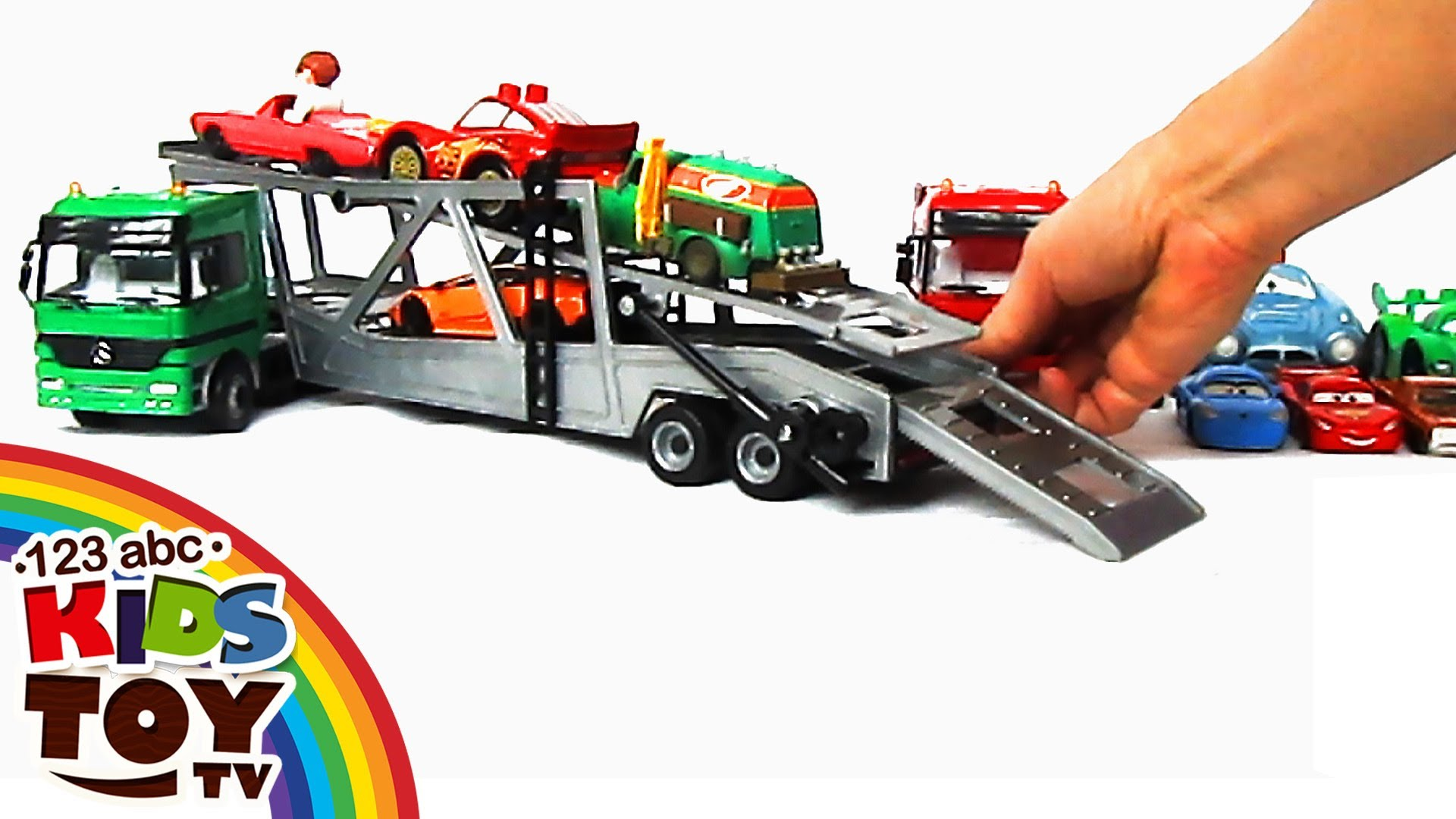 = Сar transporters car for kids toys = ☺123abc kids toy tv = mercedes benz youtube