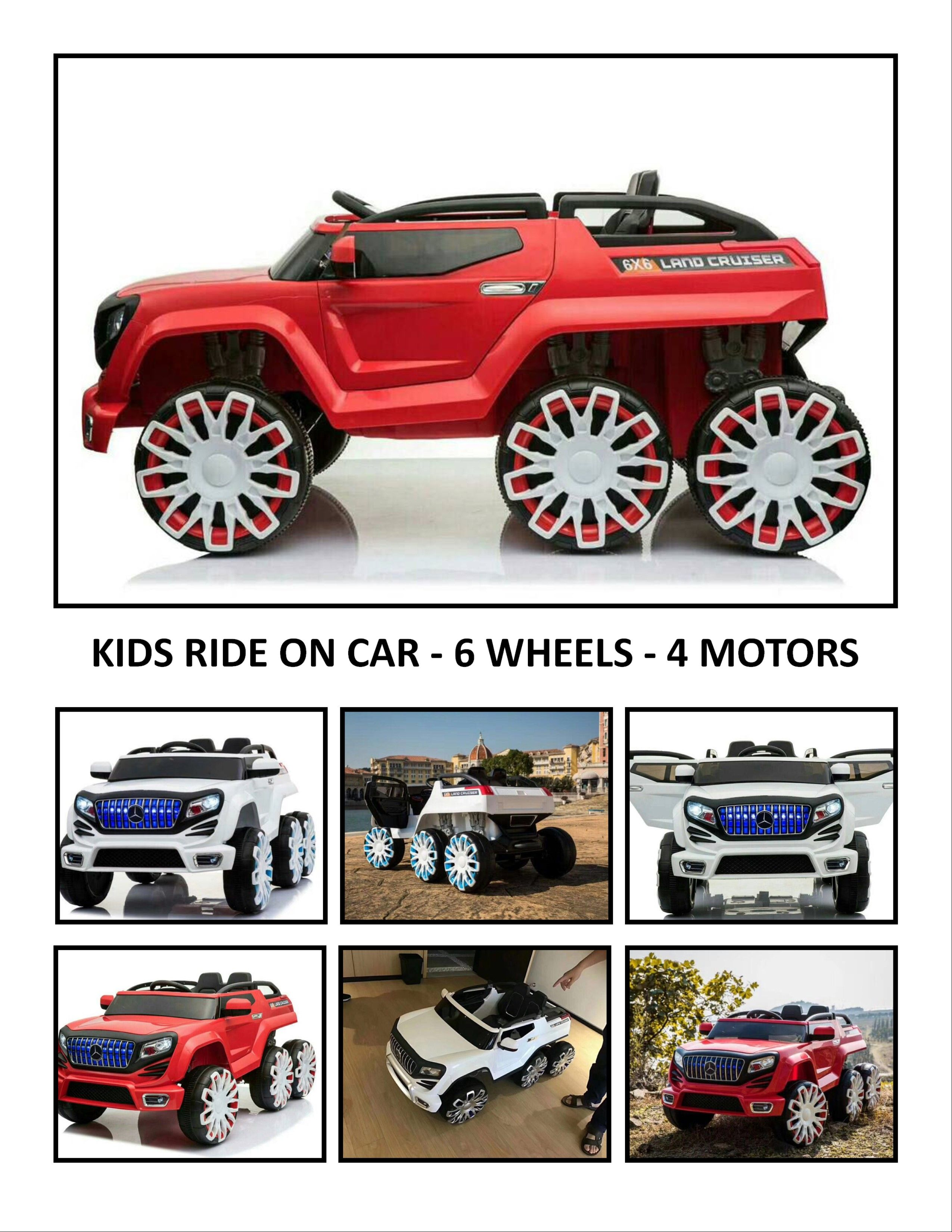 kids ride on car land cruiser a kids true beast 6 wheels