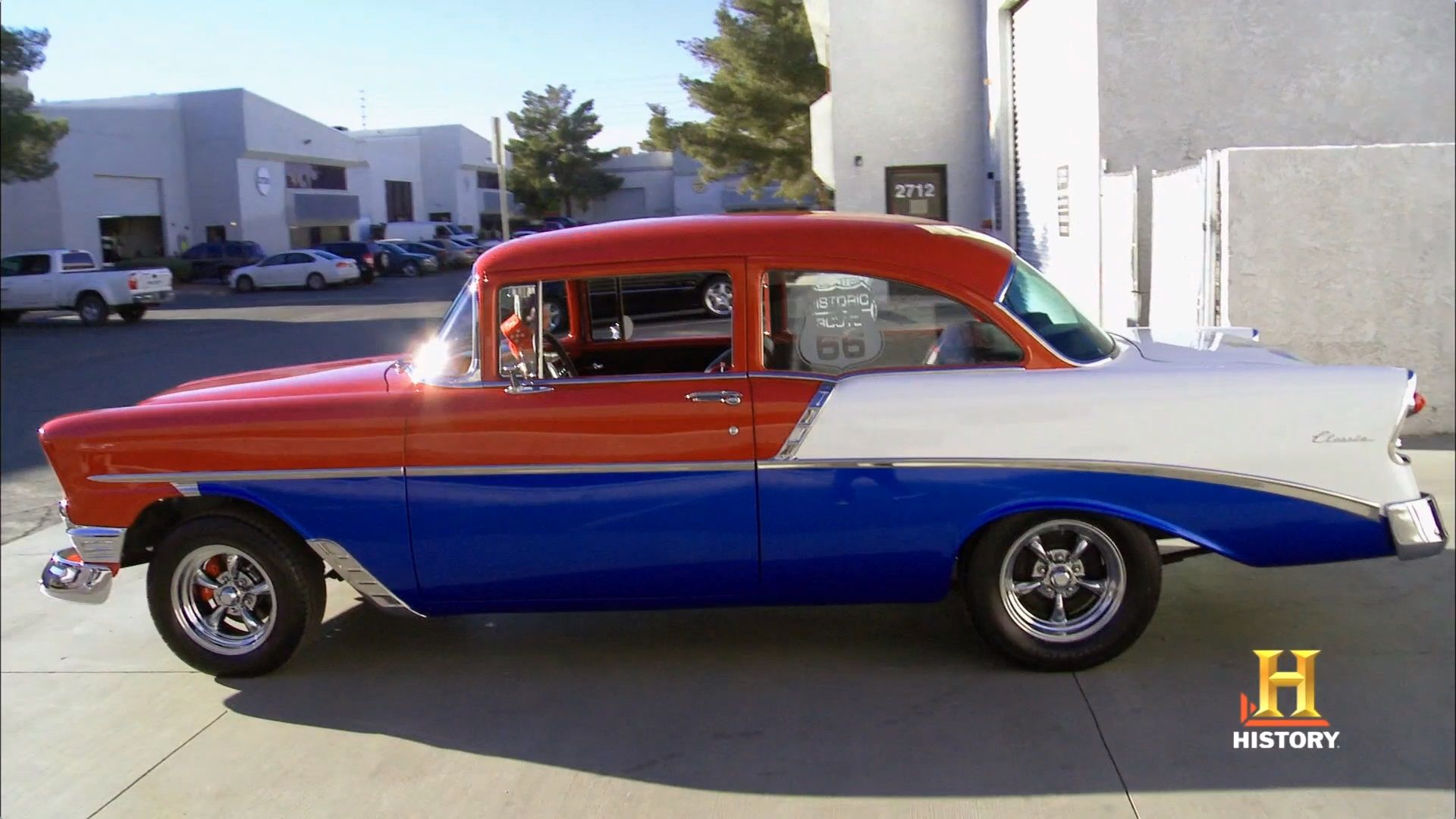 56 chevy route 66 theme counts kustoms on counting cars side view