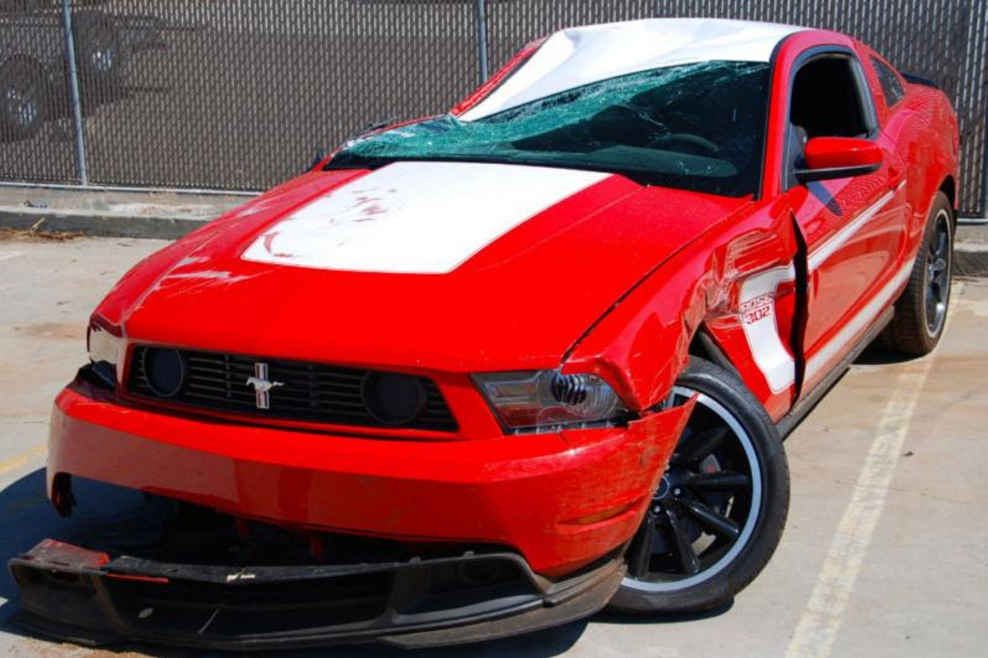 2012 ford mustang boss 302 crashed and sold on ebay h