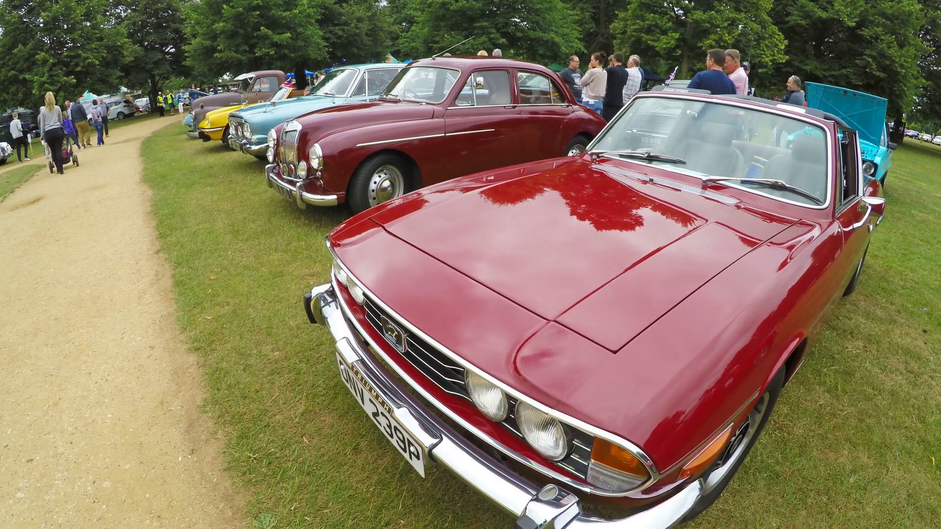 retro cars on a car auction ready for sale in london uk stock video footage videoblocks