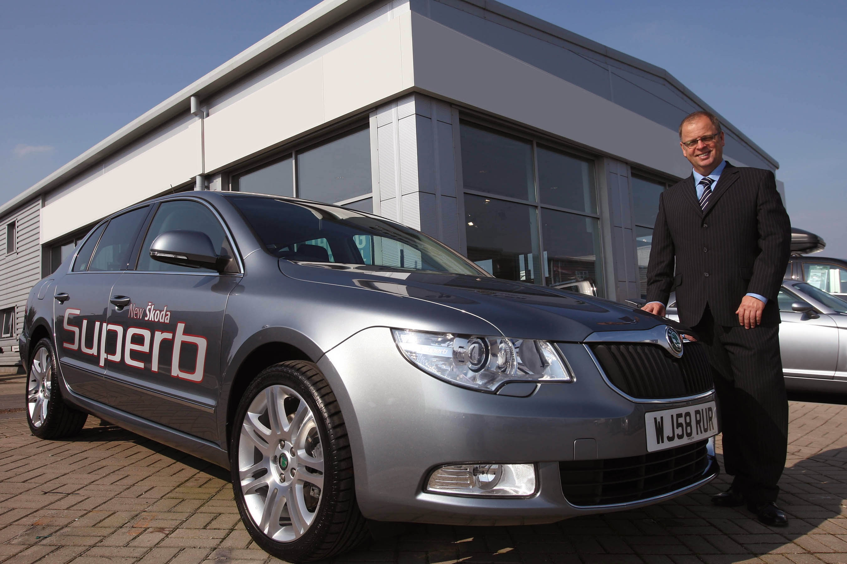 paul ridgwell general manager with one of the new skoda cars now on sale