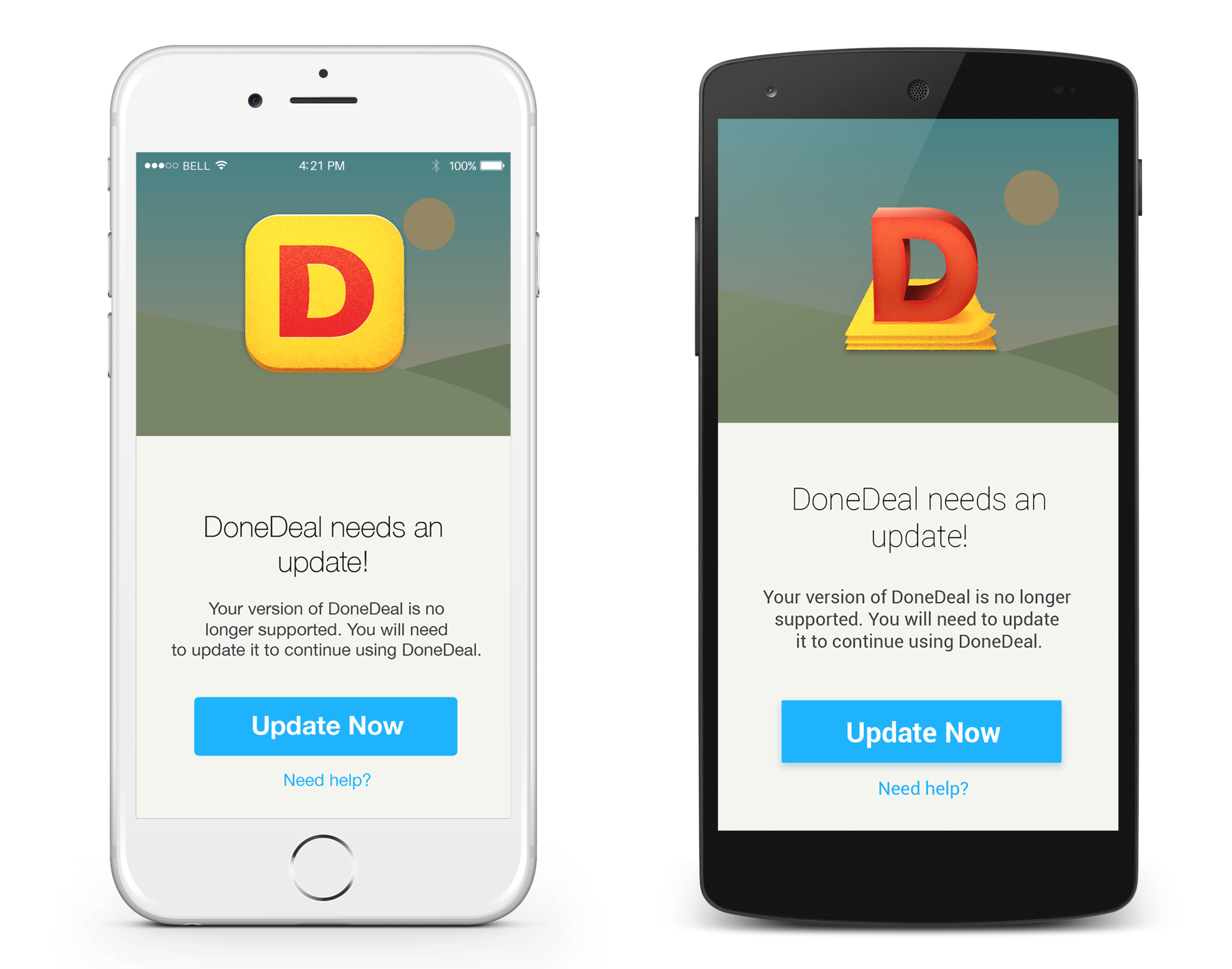 update to the latest donedeal app
