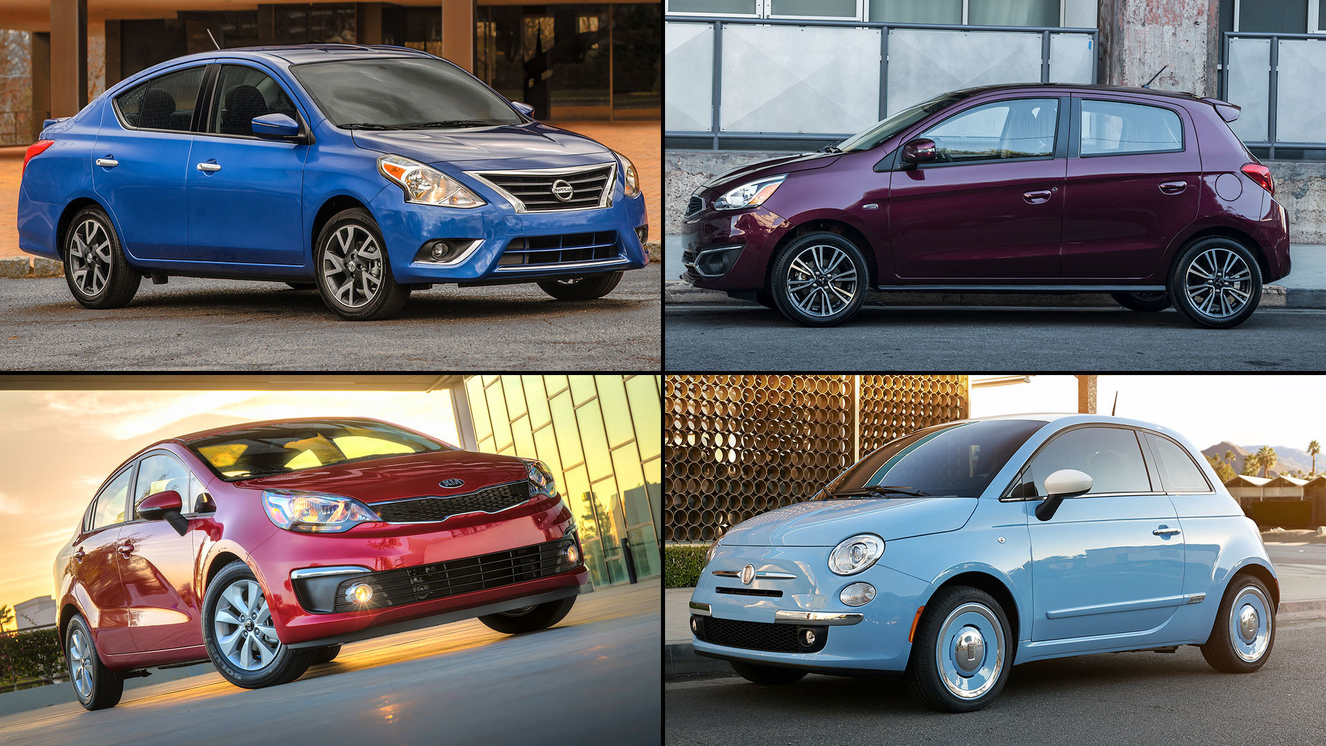20 cheapest cars lead
