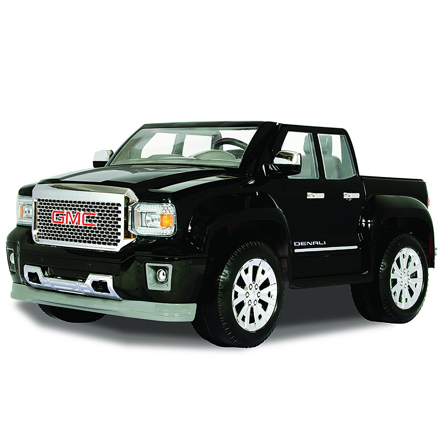 rollplay gmc sierra denali 12 volt ride on vehicle black toys games