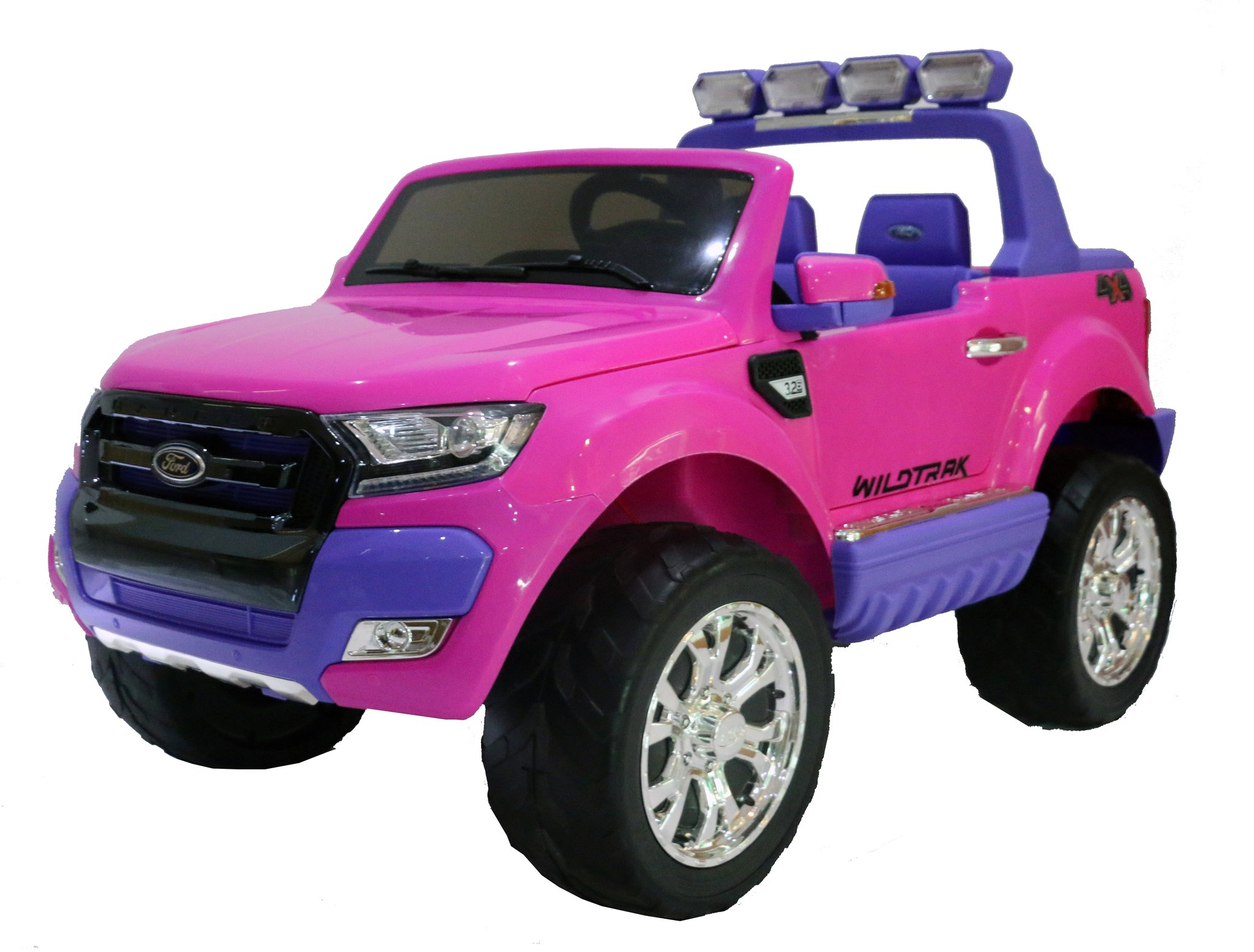 pink ricco licensed ford ranger 4x4 kids electric ride on car with remote control led lights and music pink