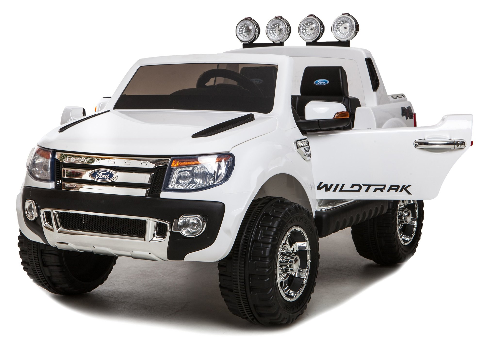 white ricco licensed ford ranger 4x4 kids electric ride on car with remote control led lights