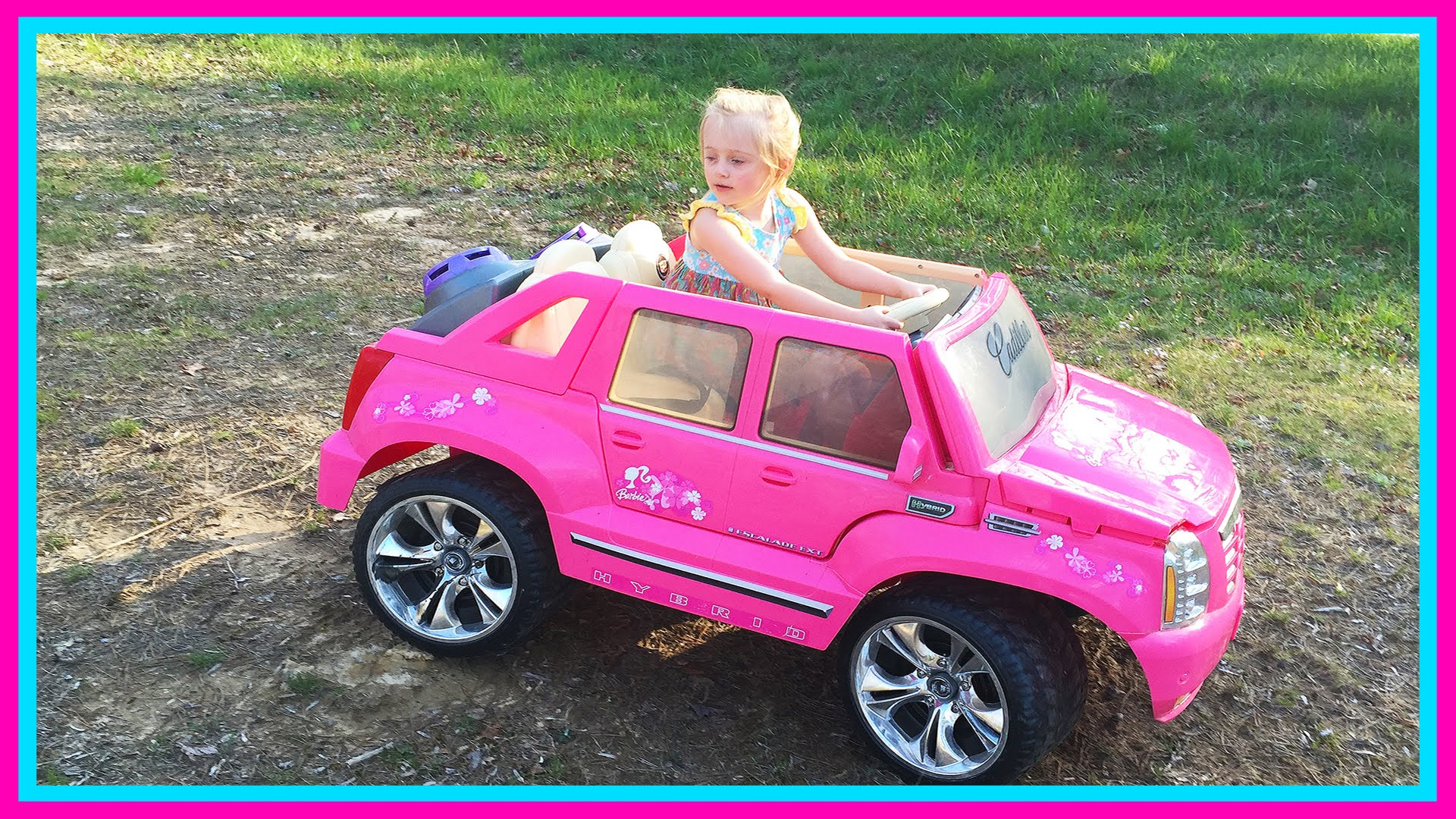 barbie power wheels ride on car step 2 roller coaster toys for kids w pink supergirl superhero youtube