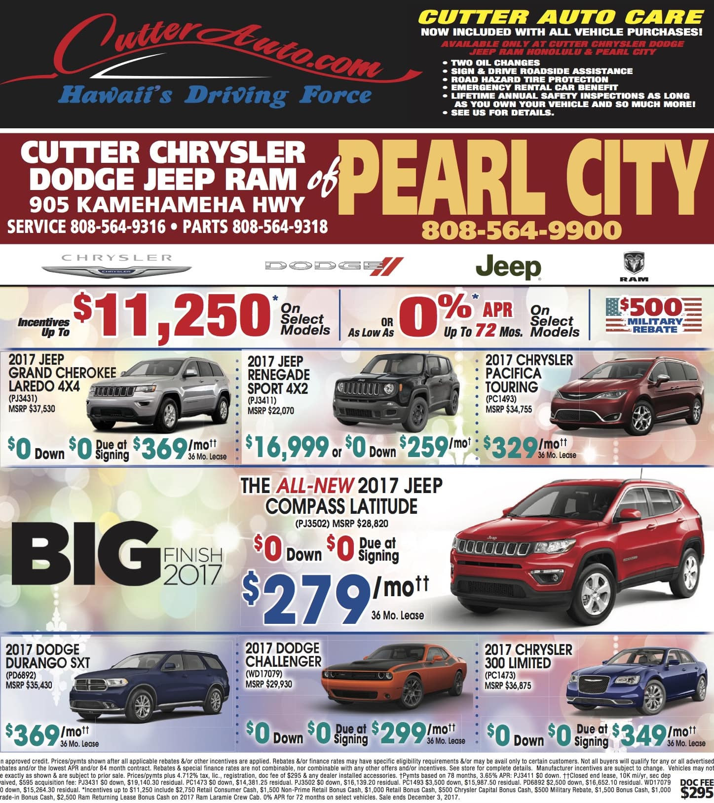 jeep dealership oahu unique inventory cutter chrysler jeep dodge pearl city