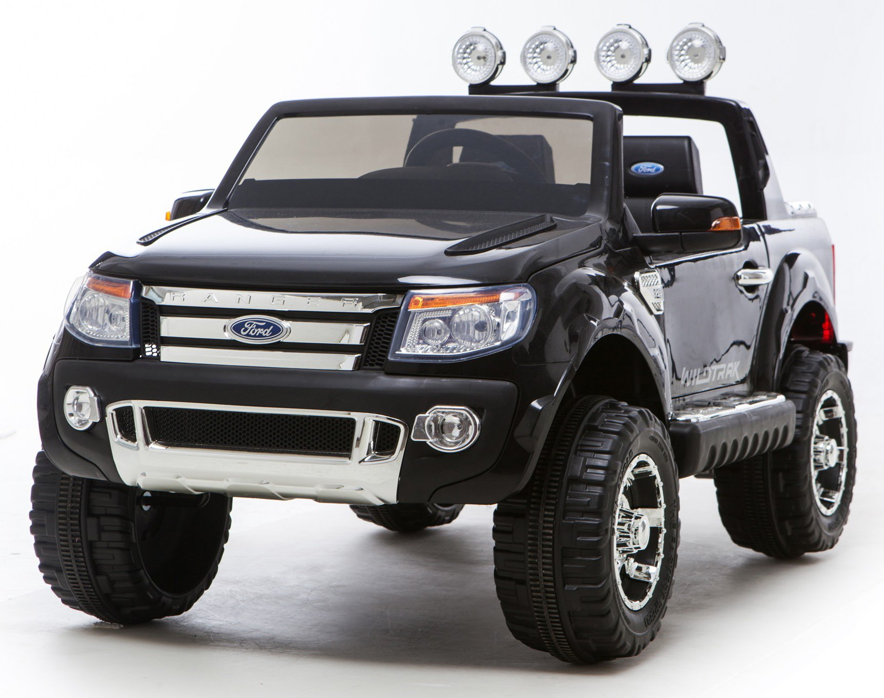 black ricco licensed ford ranger 4x4 kids electric ride on car with remote control led lights sale