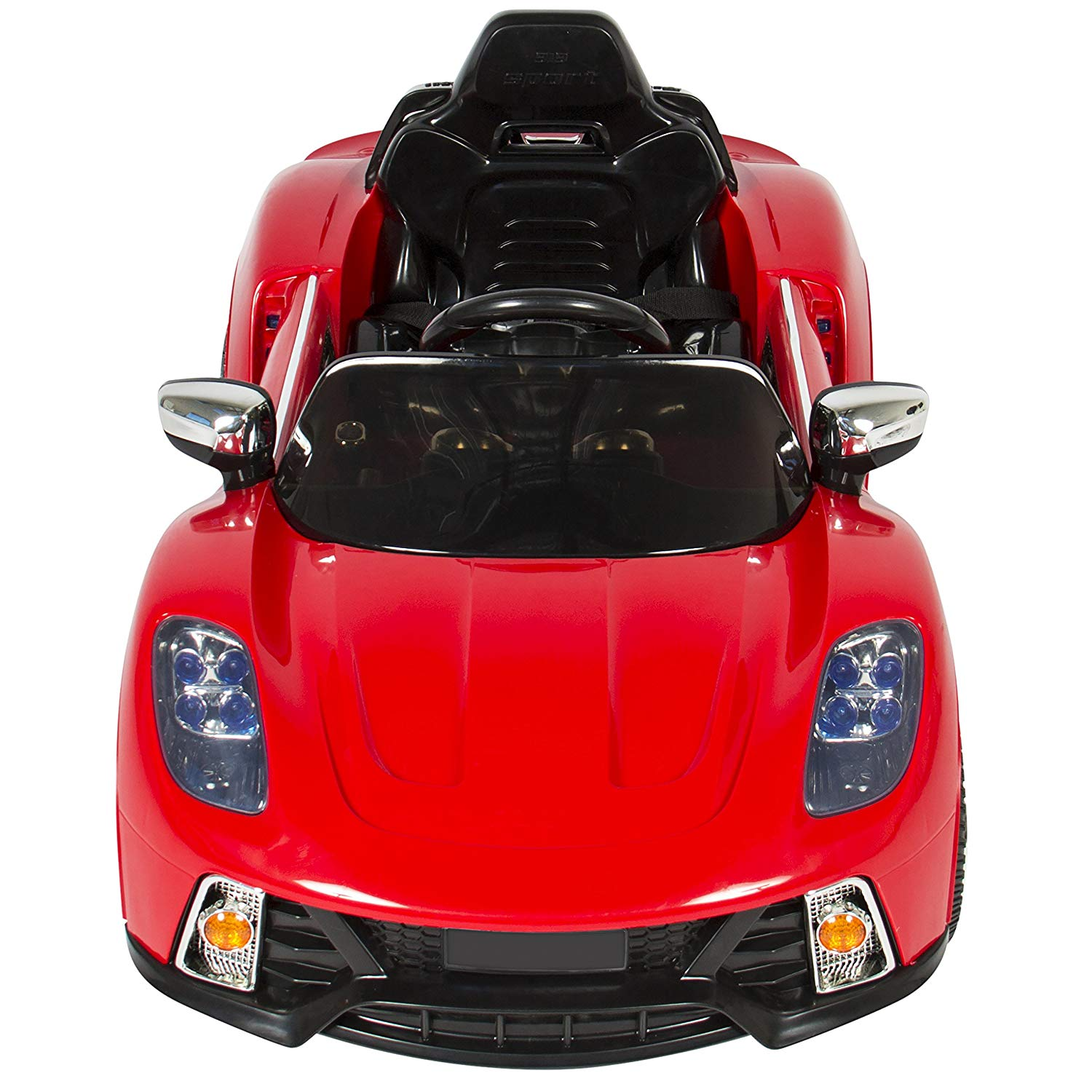 best choice products 12v kids battery powered remote control electric rc ride on car w 2 speeds led lights mp3 aux red toys games