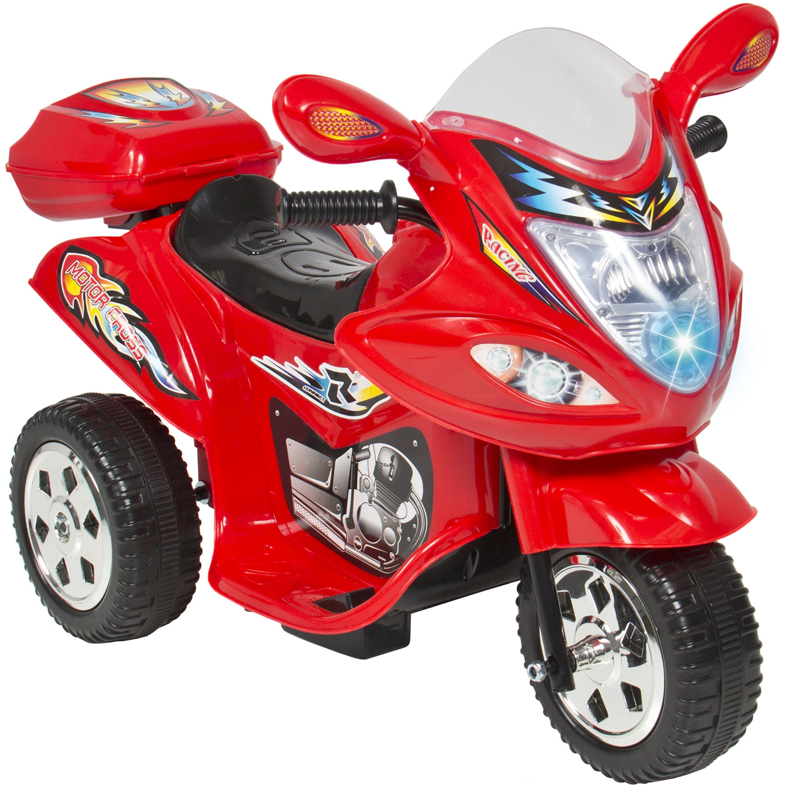 kids ride on motorcycle 6v toy battery powered electric 3 wheel power bicycle red review