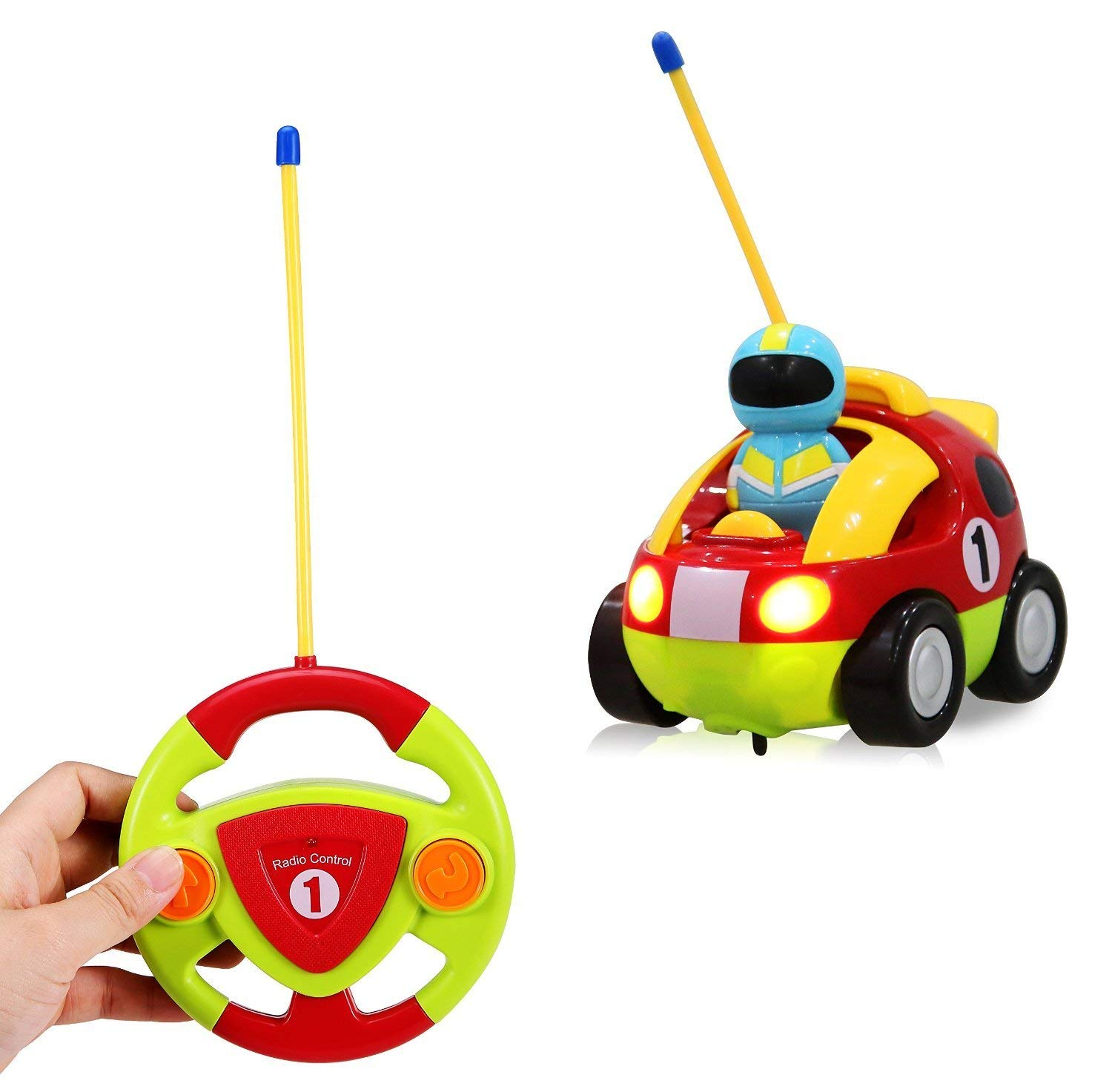 liberty imports cartoon r c race car radio control toy for toddlers english packaging toys games