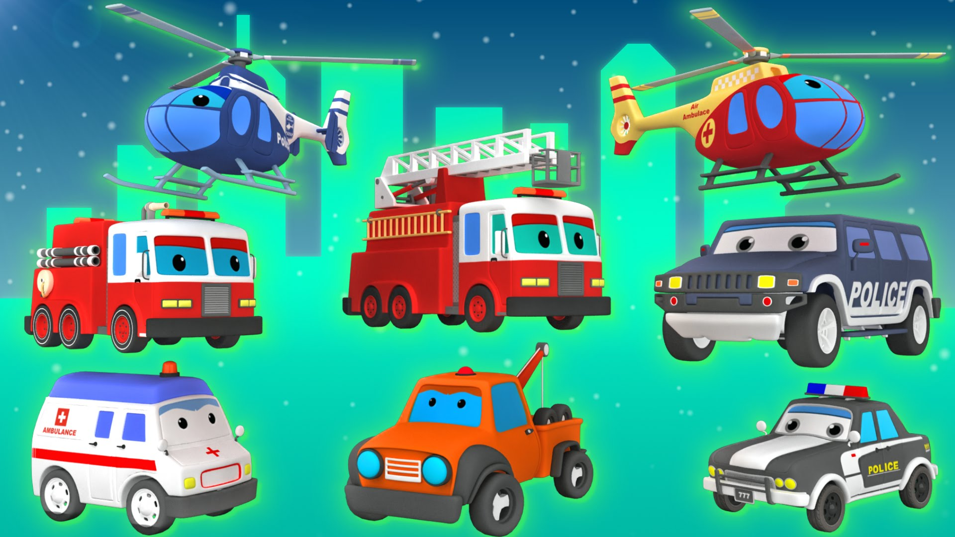 emergency vehicles vehicles for kids rescue trucks