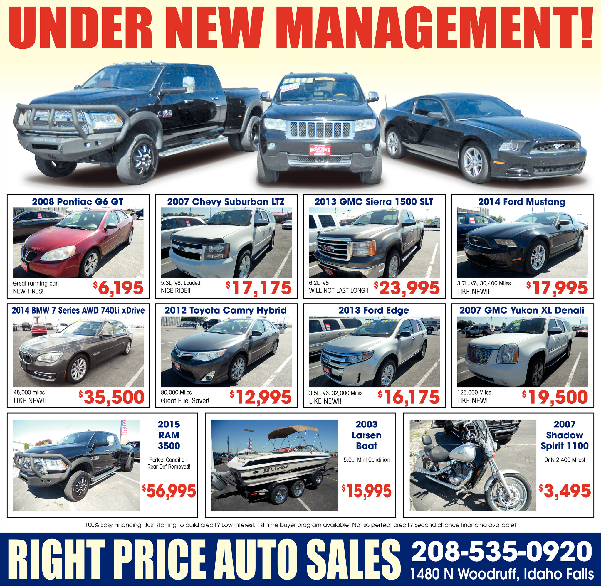 ads for right price auto sales in idaho falls id