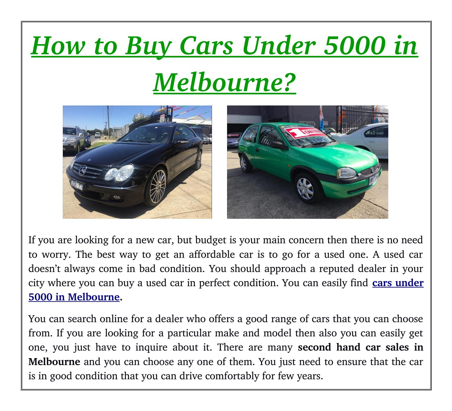 how to cars under 5000 in melbourne by used cars brooklyn issuu