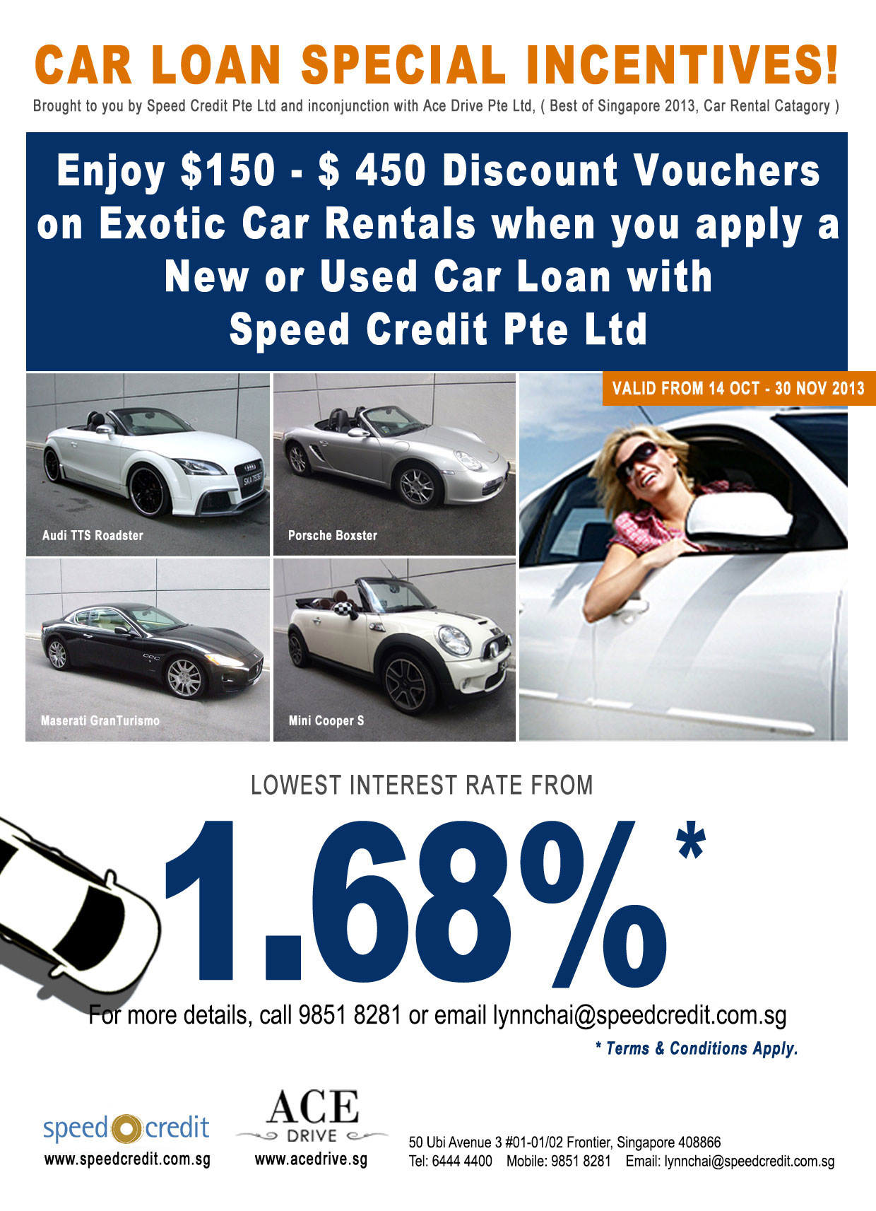 1 68 used car loan promotional rate speed credit car consignment speed credit promo
