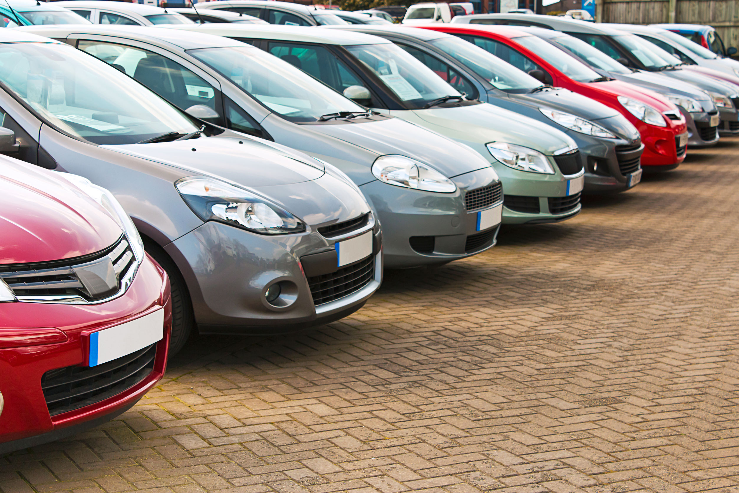 line up of various types of used cars