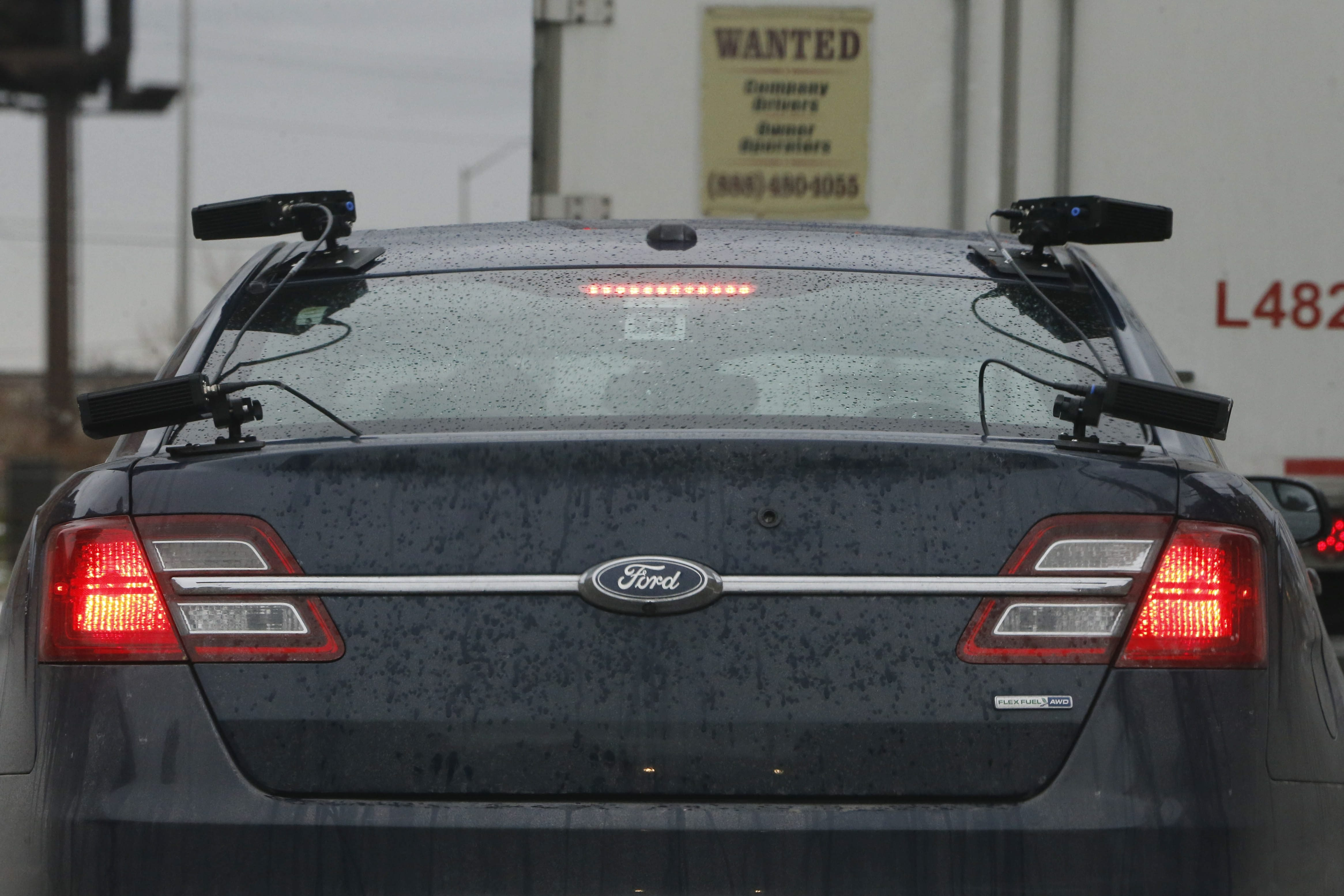 a vehicle outfitted with several license plate cameras derek gee buffalo news