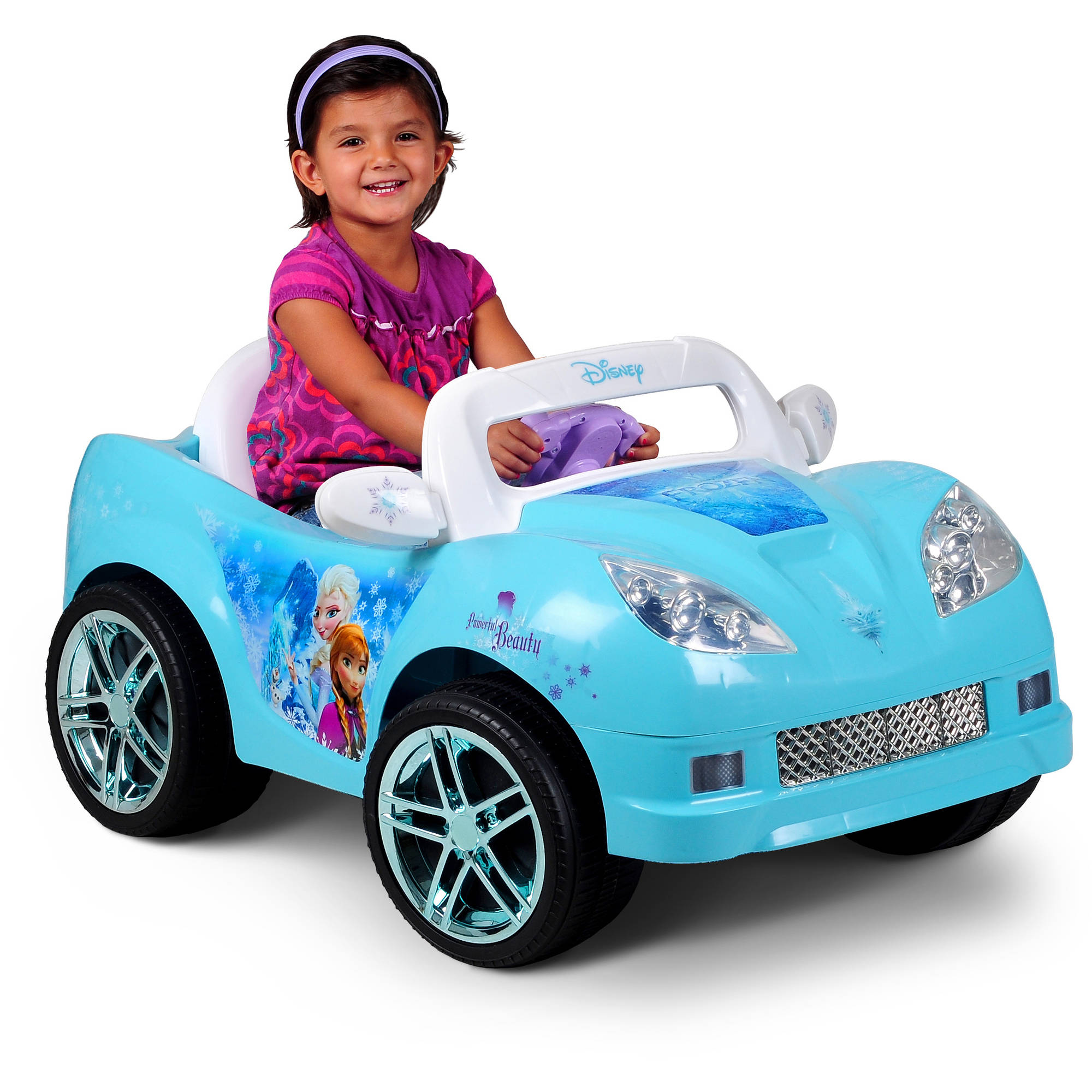 disney frozen convertible car 6 volt battery powered ride on walmart