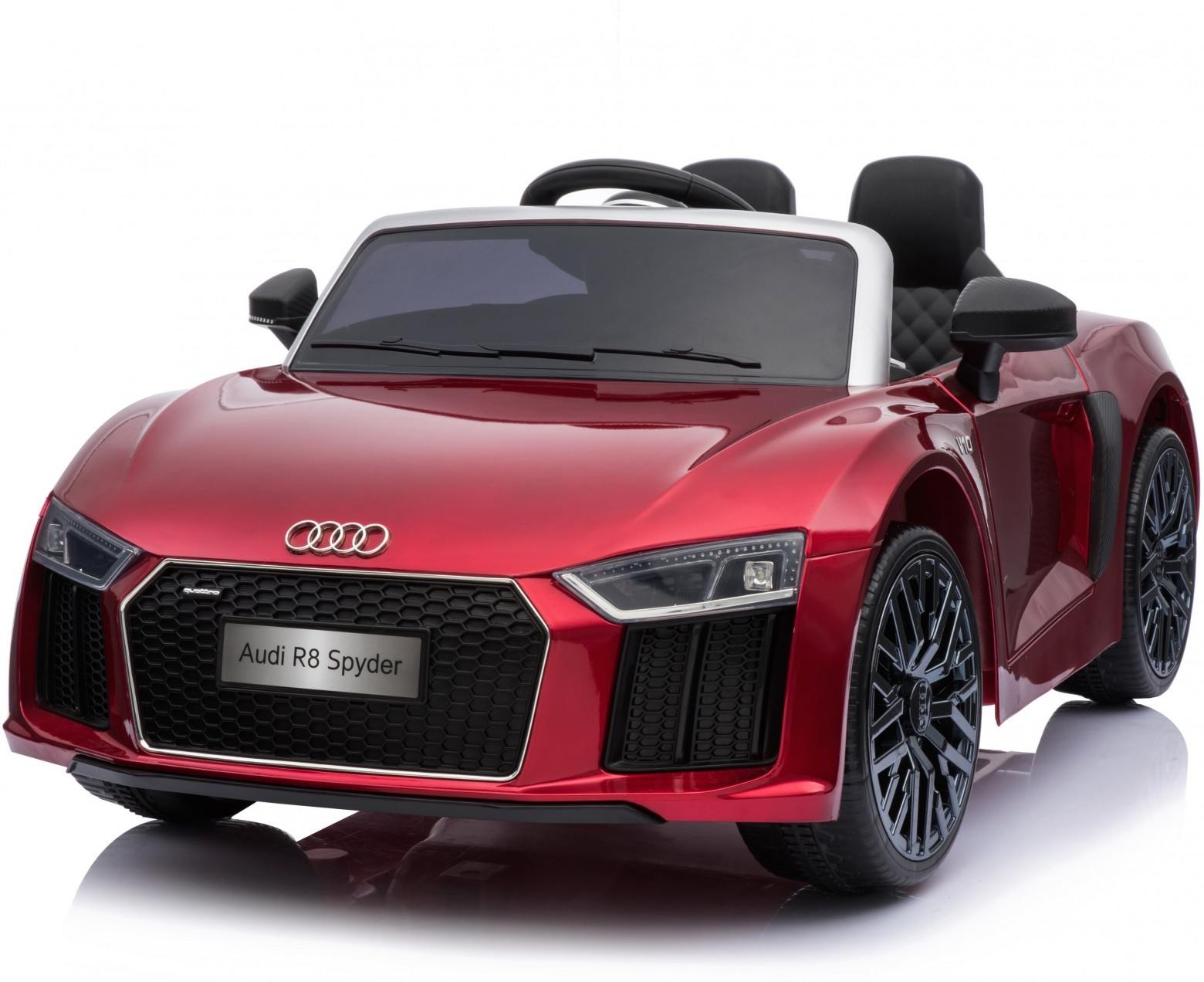new shape licensed audi r8 spyder 12v ride on red