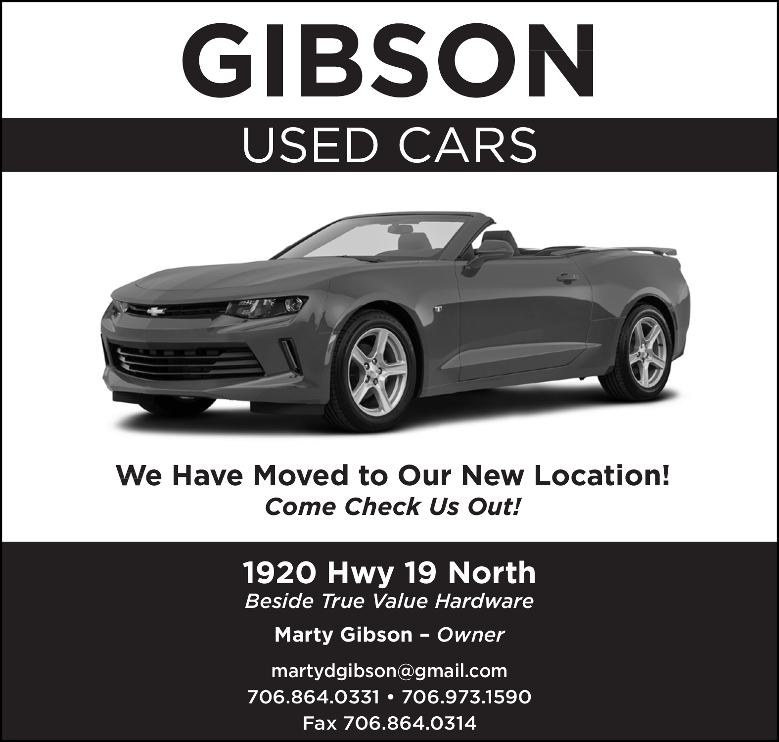 gibson used cars have moved to new location beside true value hardware at 1920 hwy 19