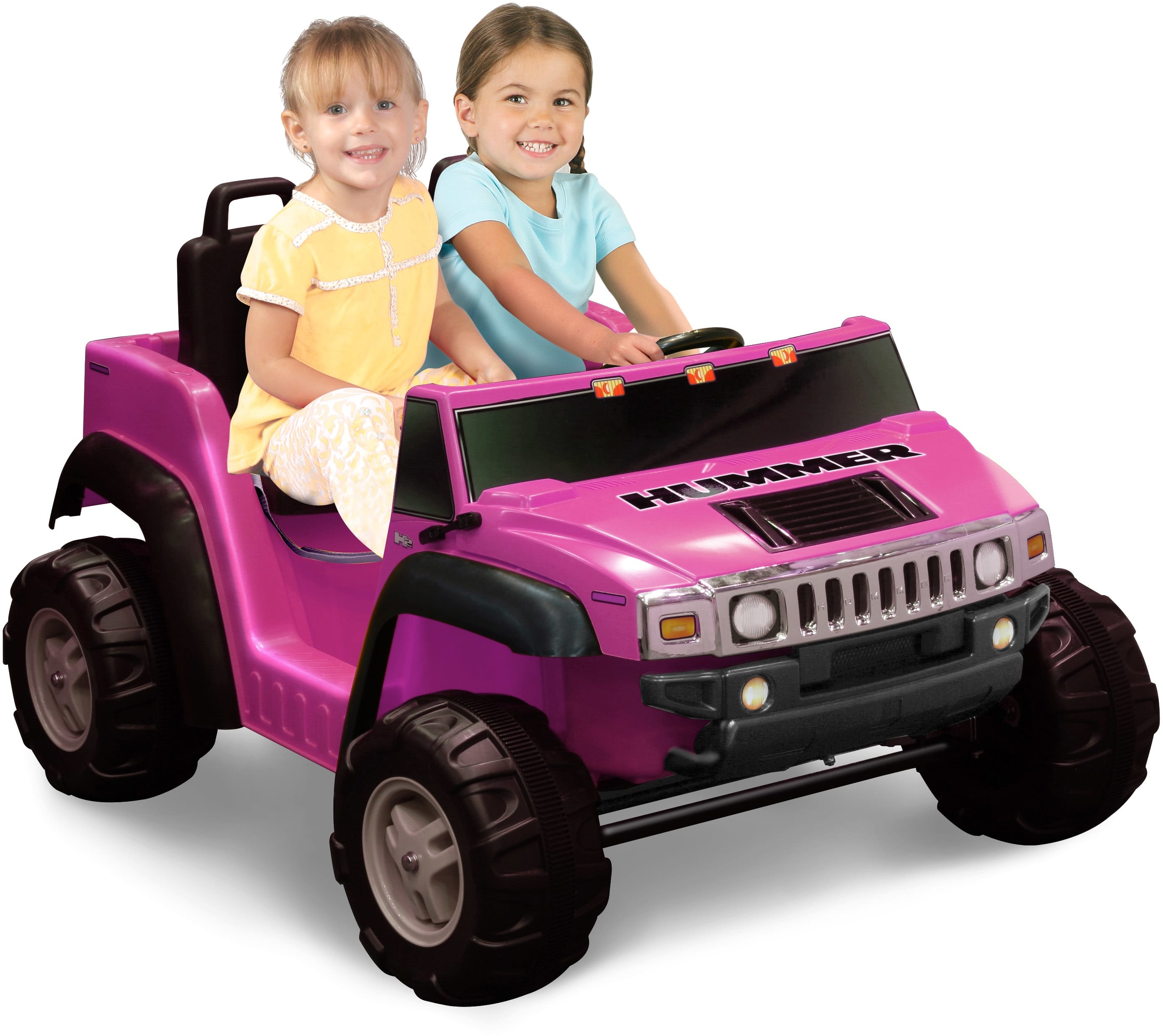 2 seat ride on pink hummer h2 toy car power battery vehicle kids fun drive t new