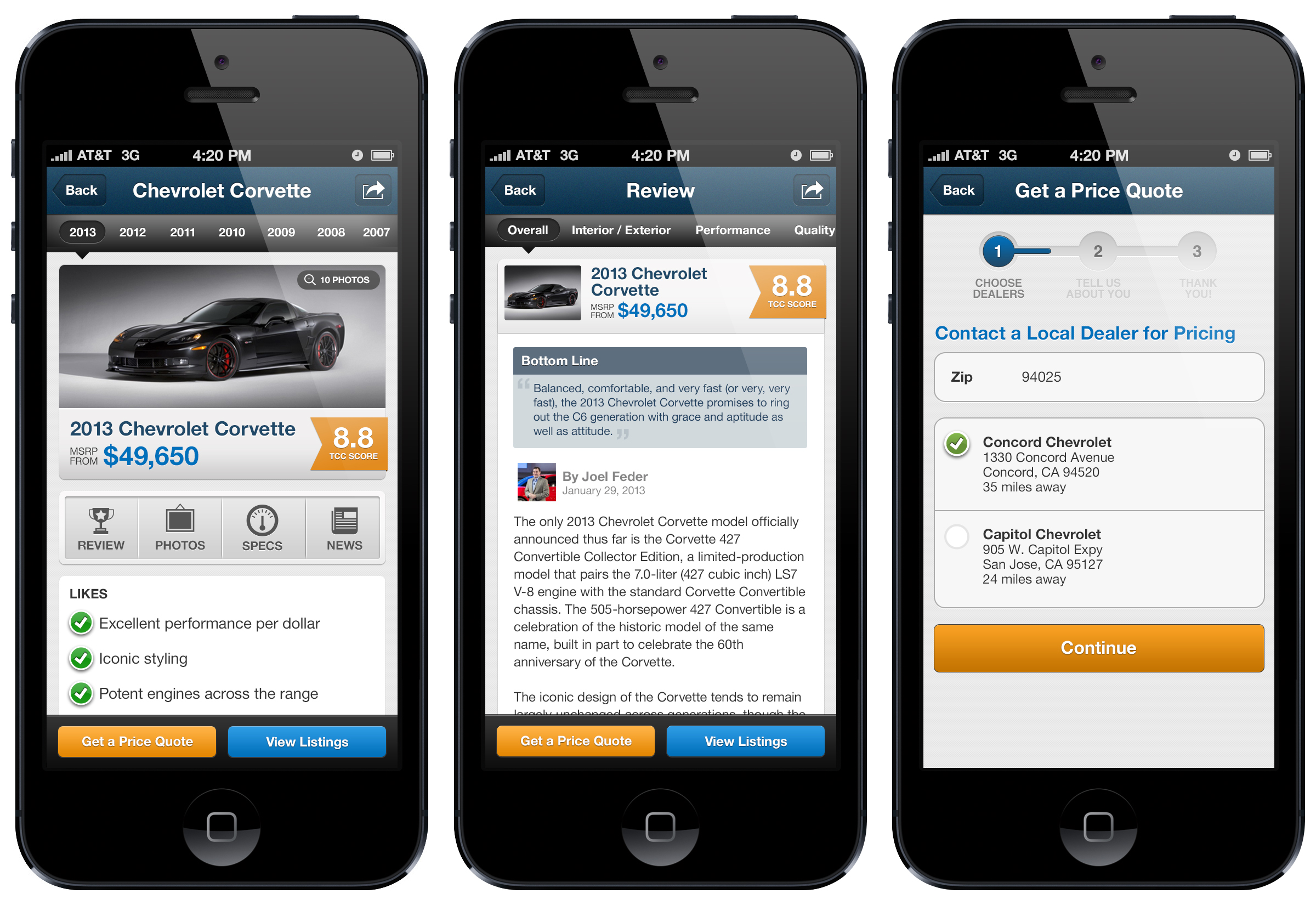 the car connection s new iphone app car reviews used car listings car news and more