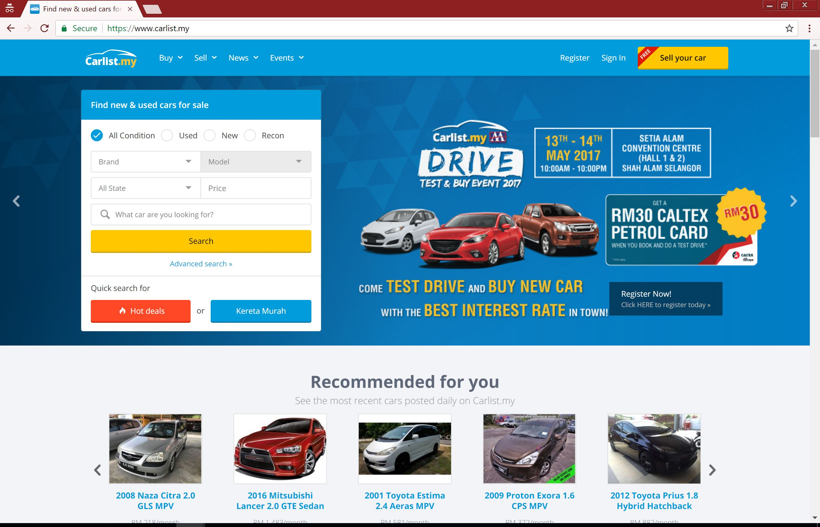 they have thousands of car listings on their site – from sales agents car dealerships etc for new and used cars pletely free for you to browse and use