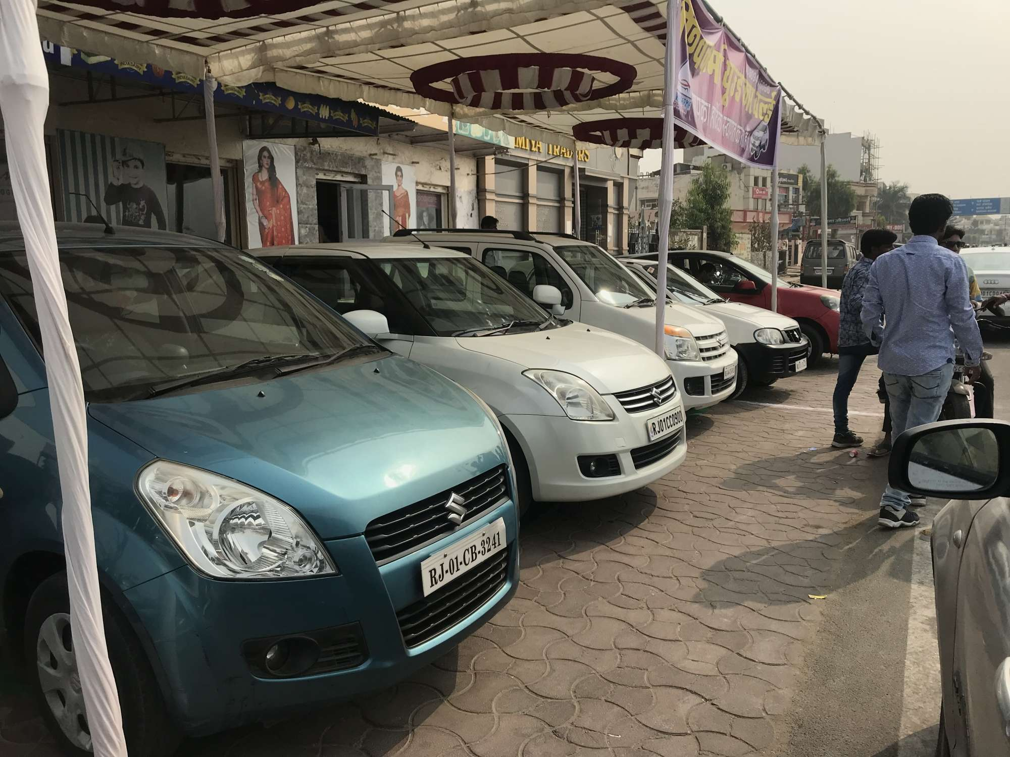 side view of second hand car shop vishwakarma used car world photos ajmer