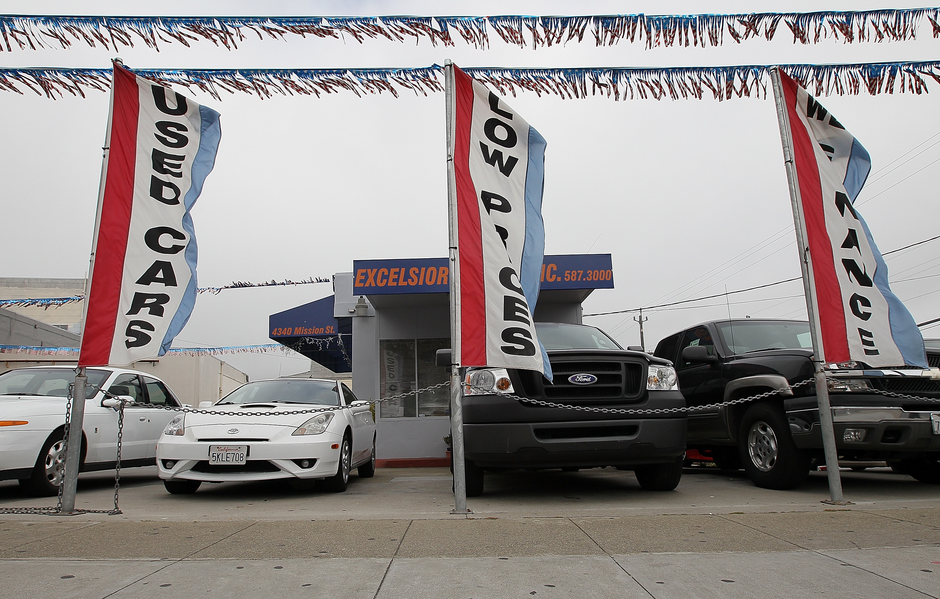 used cars are displayed on a sales lot on june 9 2011 in san francisco