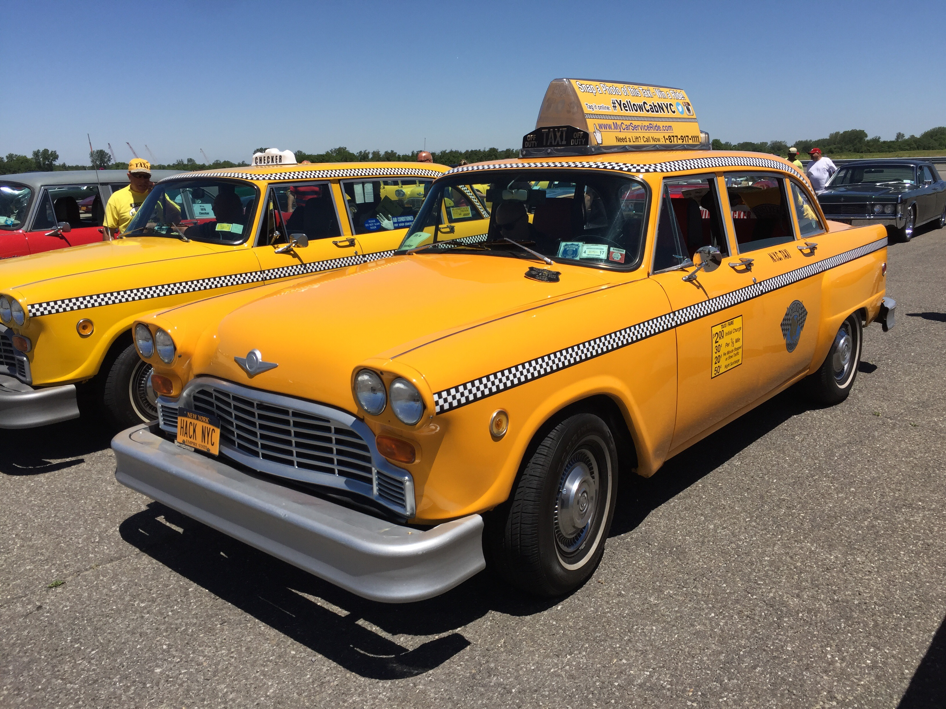oh hail yes checker cabs ride in nyc and you can totally rent them