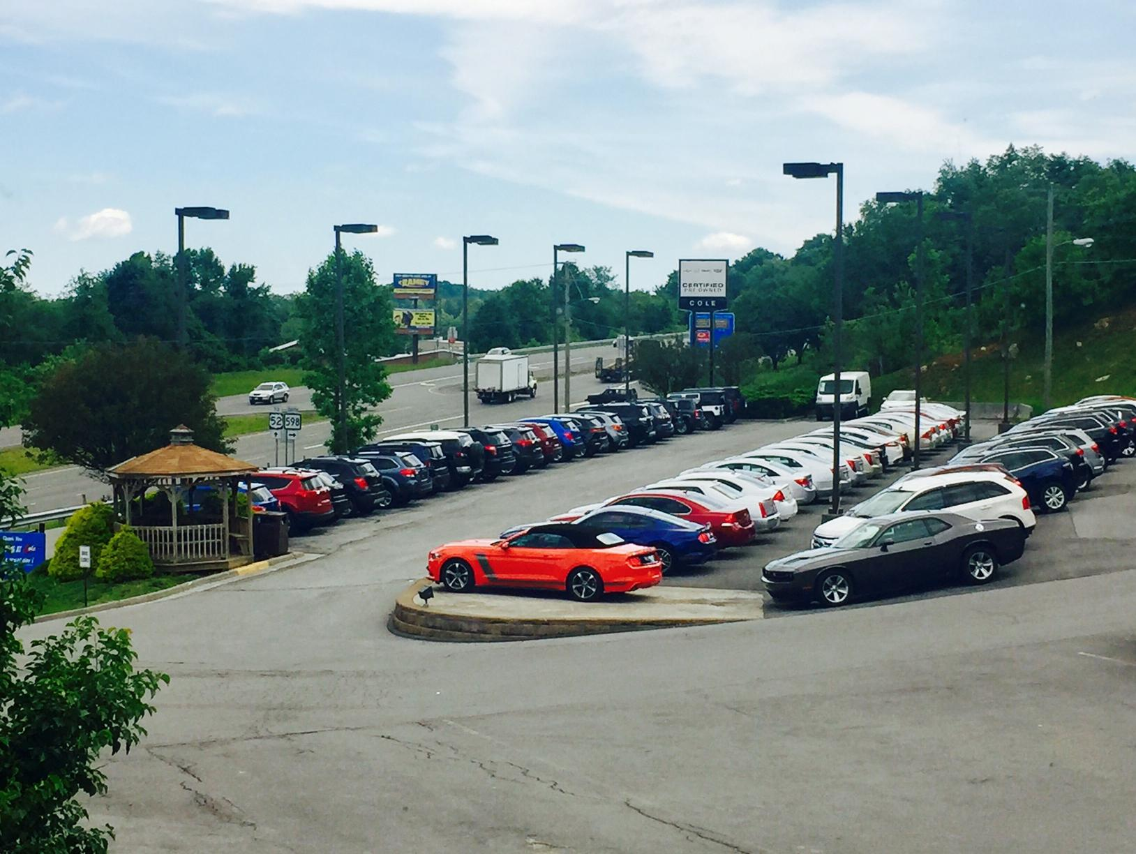 pre owned vehicle lot