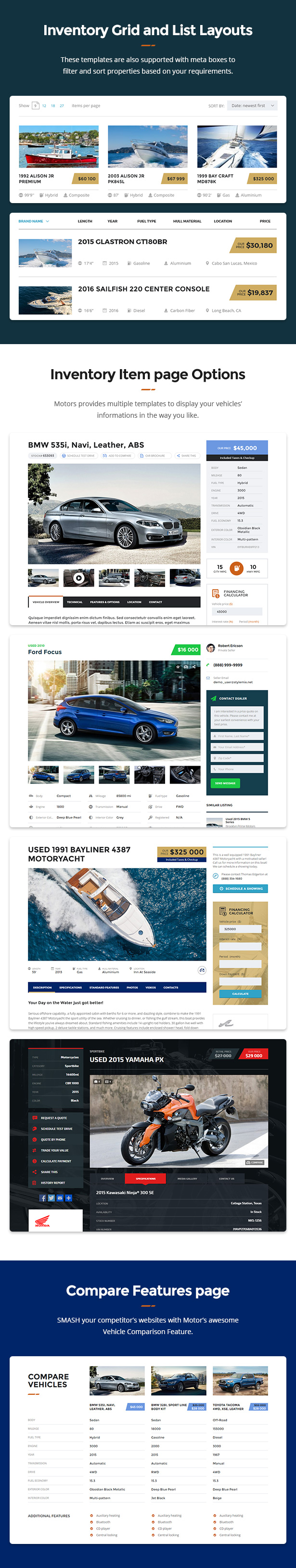 motors automotive car dealership car rental vehicle bikes classified listing theme