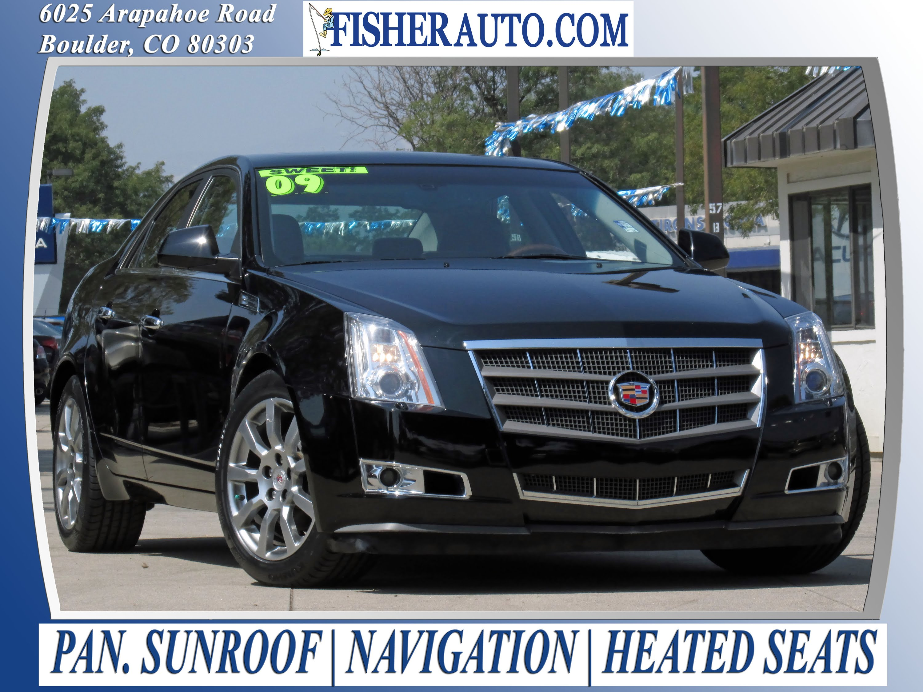 used cars 2009 cadillac cts awd w 1sb boulder longmont denver fisher auto