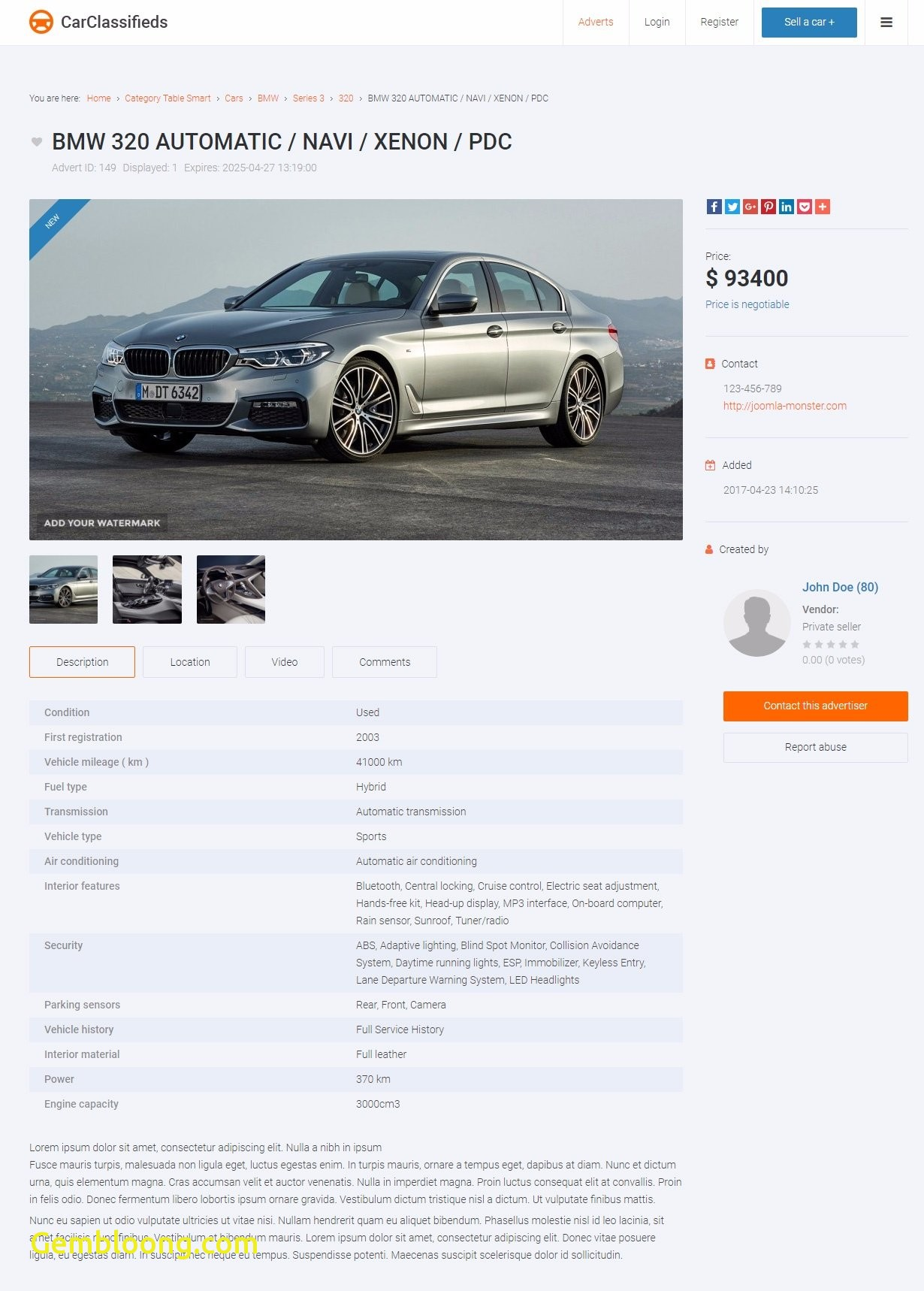 used car classifieds unique car classifieds website template auctions joomla monster