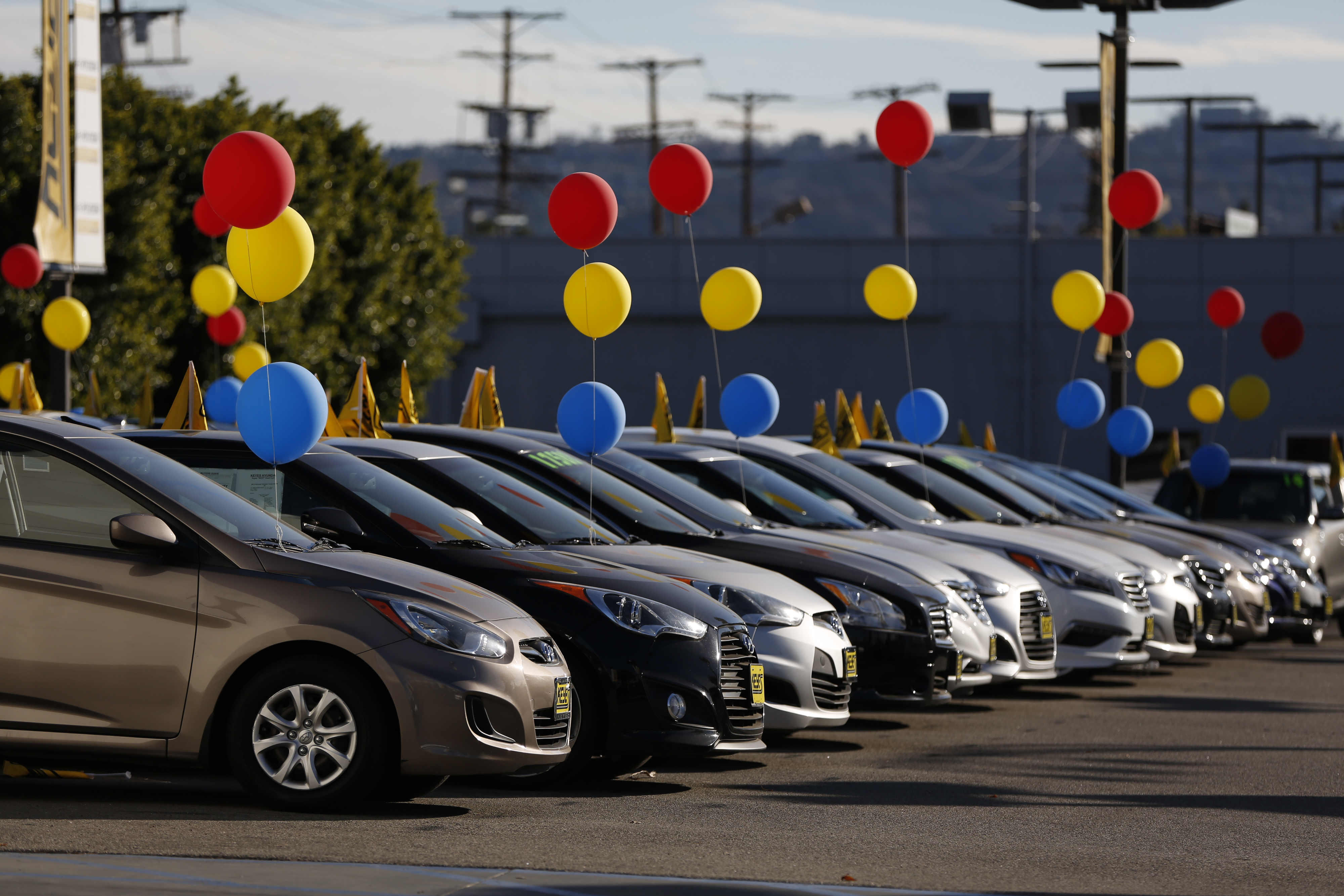 hyundai motor co vehicles sit on display for sale