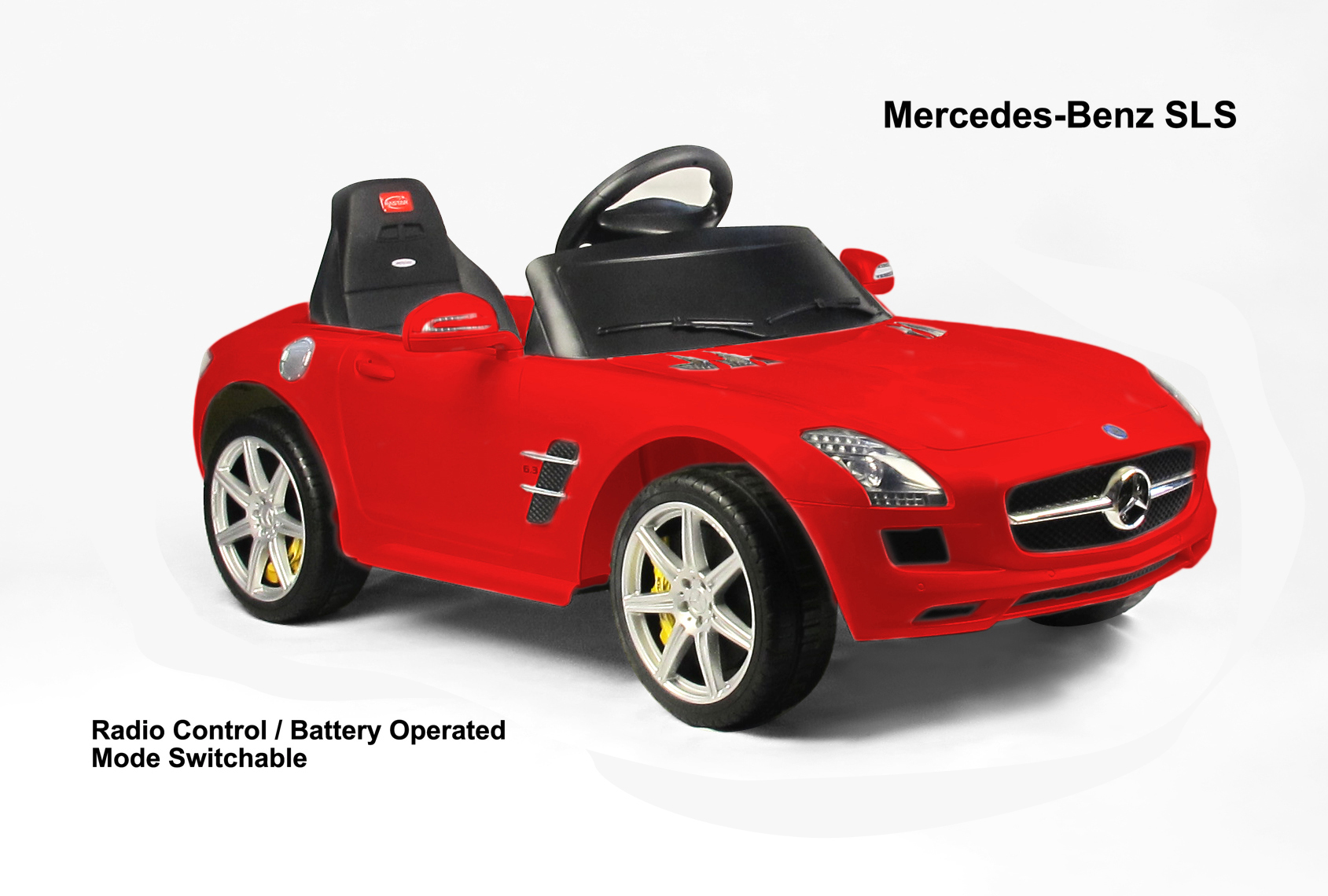 meedes benz sls 6v electric children s battery powered under licensed ride on car with red rc remote control radio car