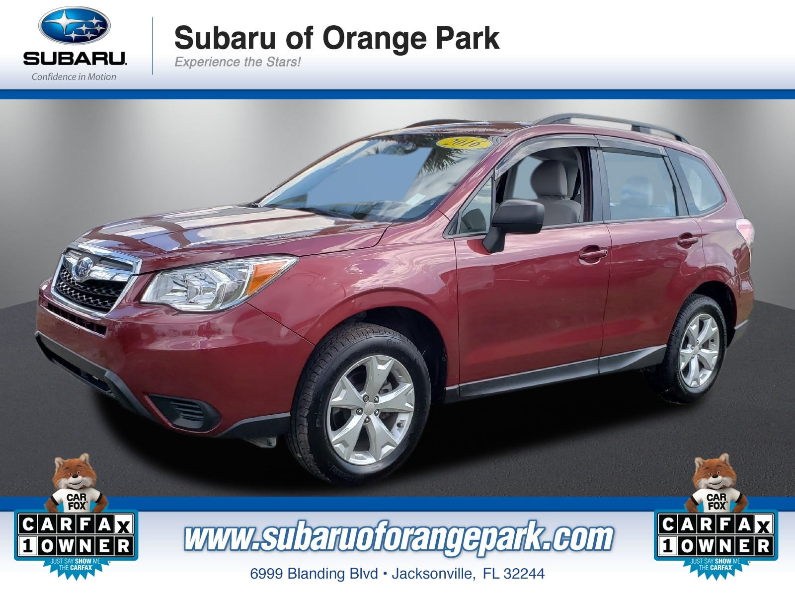 featured used cars in jacksonville 2016 subaru forester 2 5i