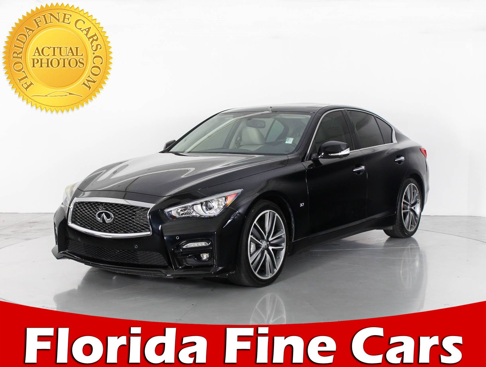 used 2014 infiniti q50s sport sedan for sale in hollywood fl