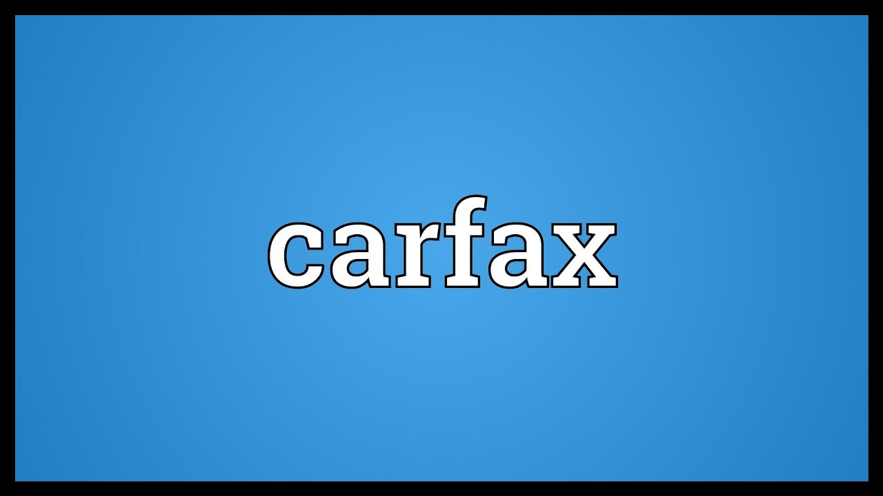carfax meaning