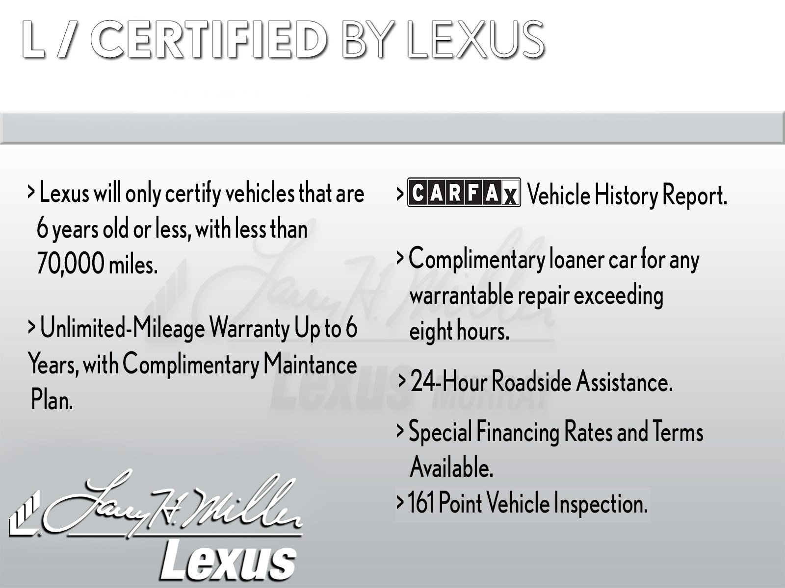 Carfax Report for Less Elegant Certified Pre Owned 2014 Lexus is 250 Rwd Value Package 4dr Car