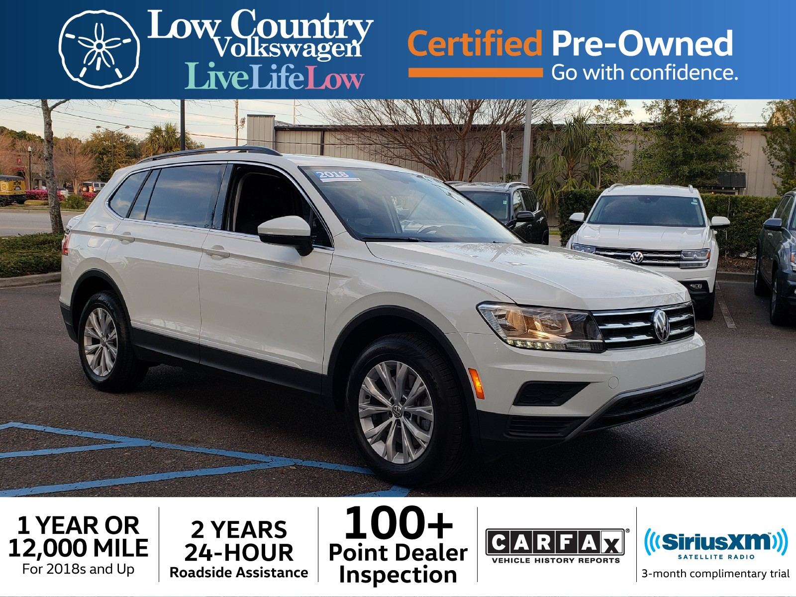Carfax Trial Luxury Certified Pre Owned 2018 Volkswagen Tiguan 2 0t Se 4d Sport Utility
